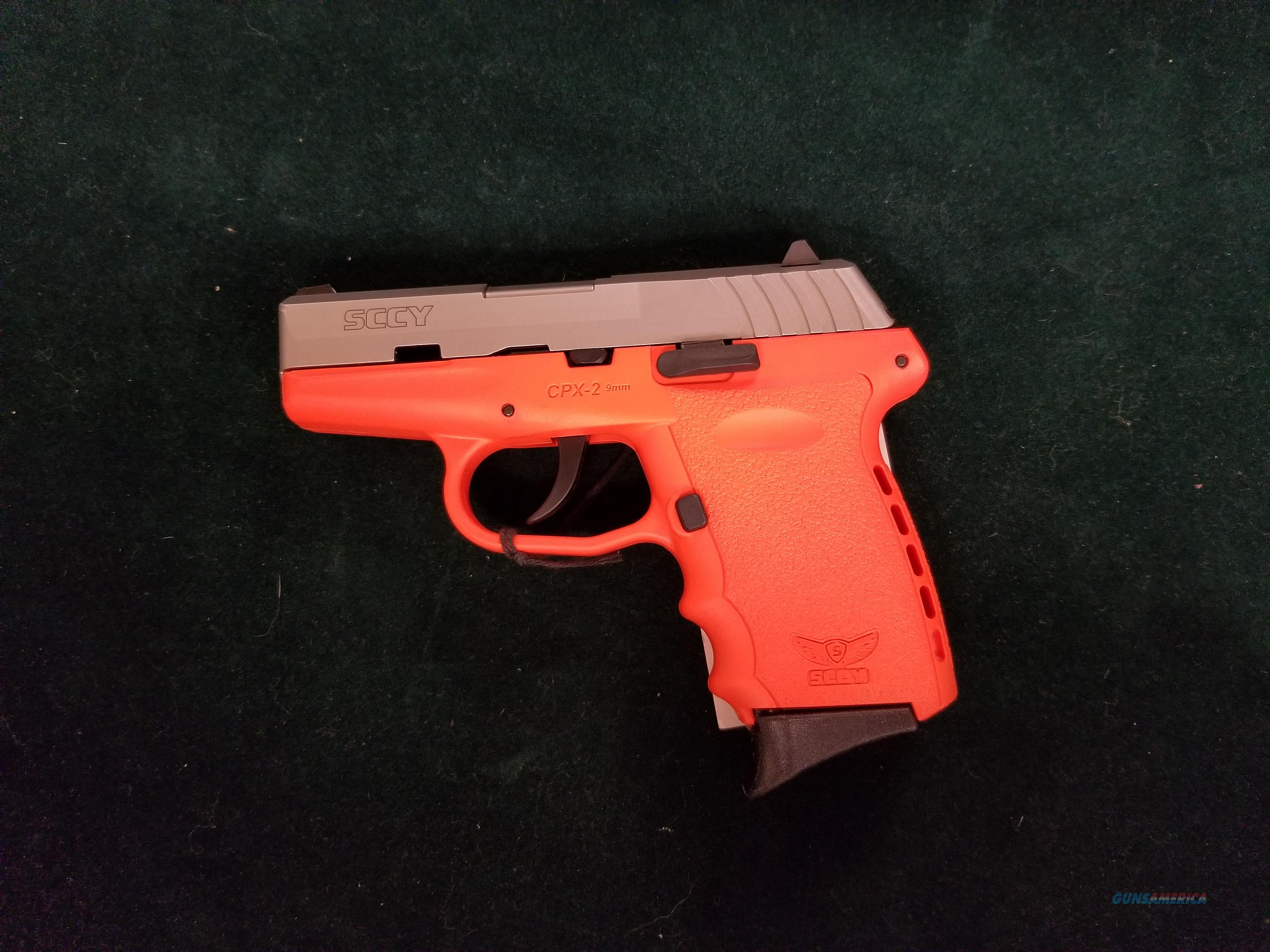 SCCY CPX-2 in bright orange. Road worker's special.  Guns > Pistols > SCCY Pistols > CPX2