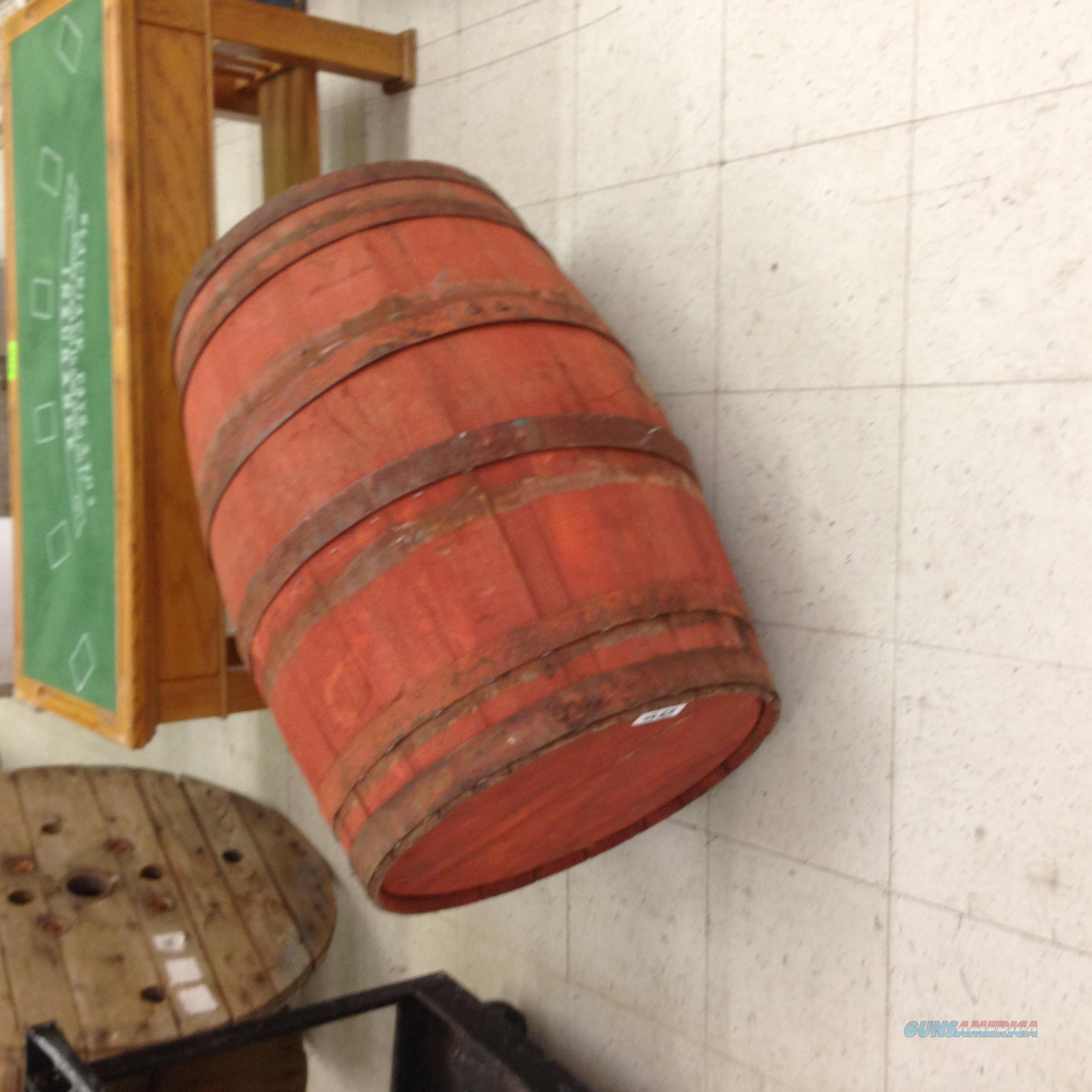 Antique Wooden Barrel by Western Cooperage Co (red)  Non-Guns > Barrels