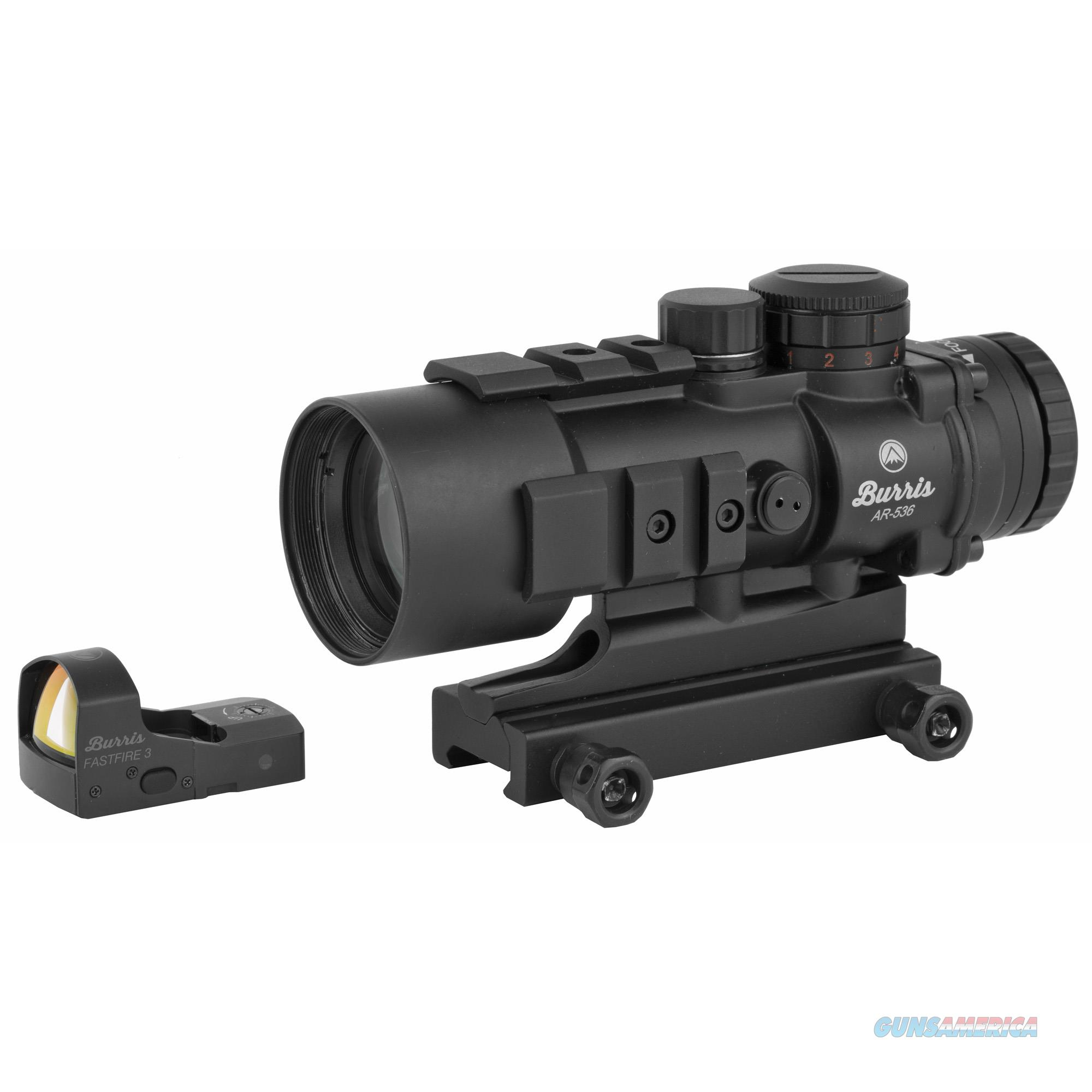Burris AR-536 Rifle Scope 5X-36mm Free Fastfire Promotion, AR-Prism, 5X Power, Ballistic 5X Reticle, Illuminated Reticle, FastFire3, Flip-Up Lens Covers Matte Black Finish 300179  Non-Guns > Scopes/Mounts/Rings & Optics > Tactical Scopes > Other Head-Up Optics