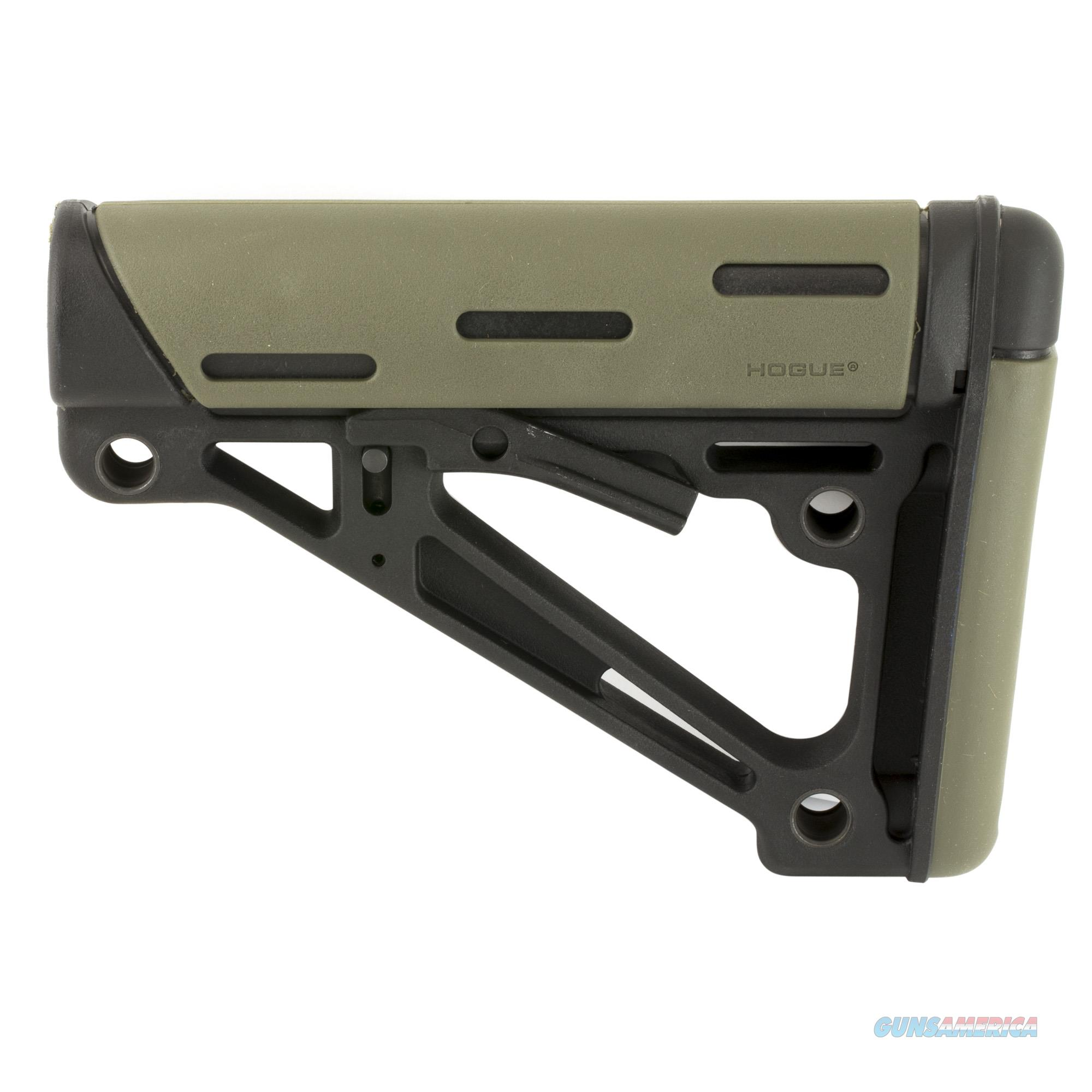 Hogue AR-15/M-16 OverMolded Collapsible Buttstock Mil-Spec Buffer Tube, Olive Drab Green Rubber 15240  Non-Guns > Gun Parts > Stocks > Polymer
