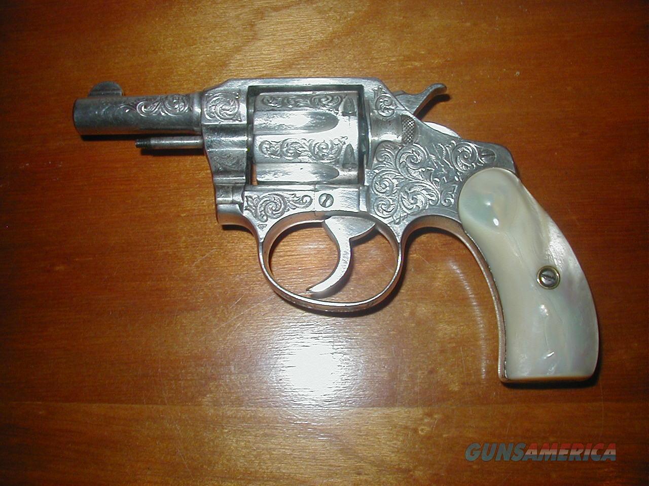 Colt Pocket Positive .32  Engraved 1922 Model w/ Factory Letter  Guns > Pistols > Colt Double Action Revolvers- Pre-1945