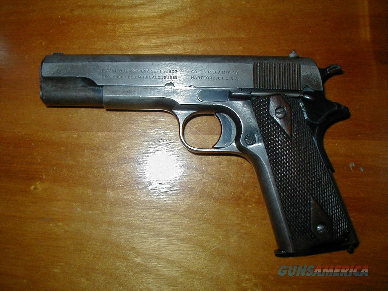 Colt 1911 WWI Model all original .45 cal. from 1917  Guns > Pistols > Colt Automatic Pistols (1911 & Var)