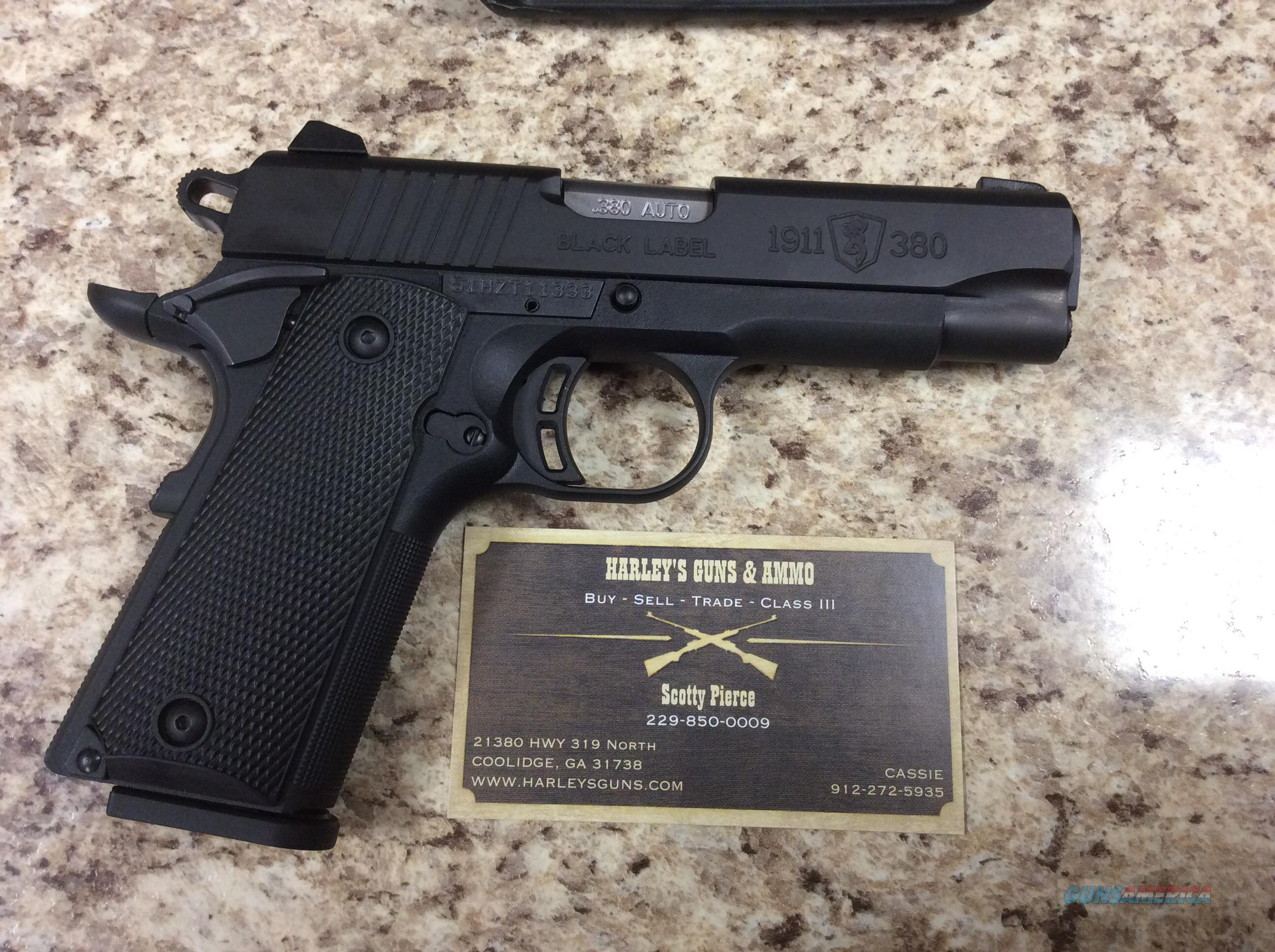 Browning Black Label 1911 .380  Guns > Pistols > Browning Pistols > Other Autos