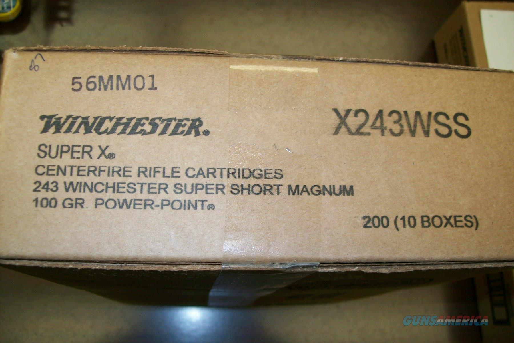 Winchester 243 WSSM 200 RNDS Free Shipping!  Non-Guns > Ammunition