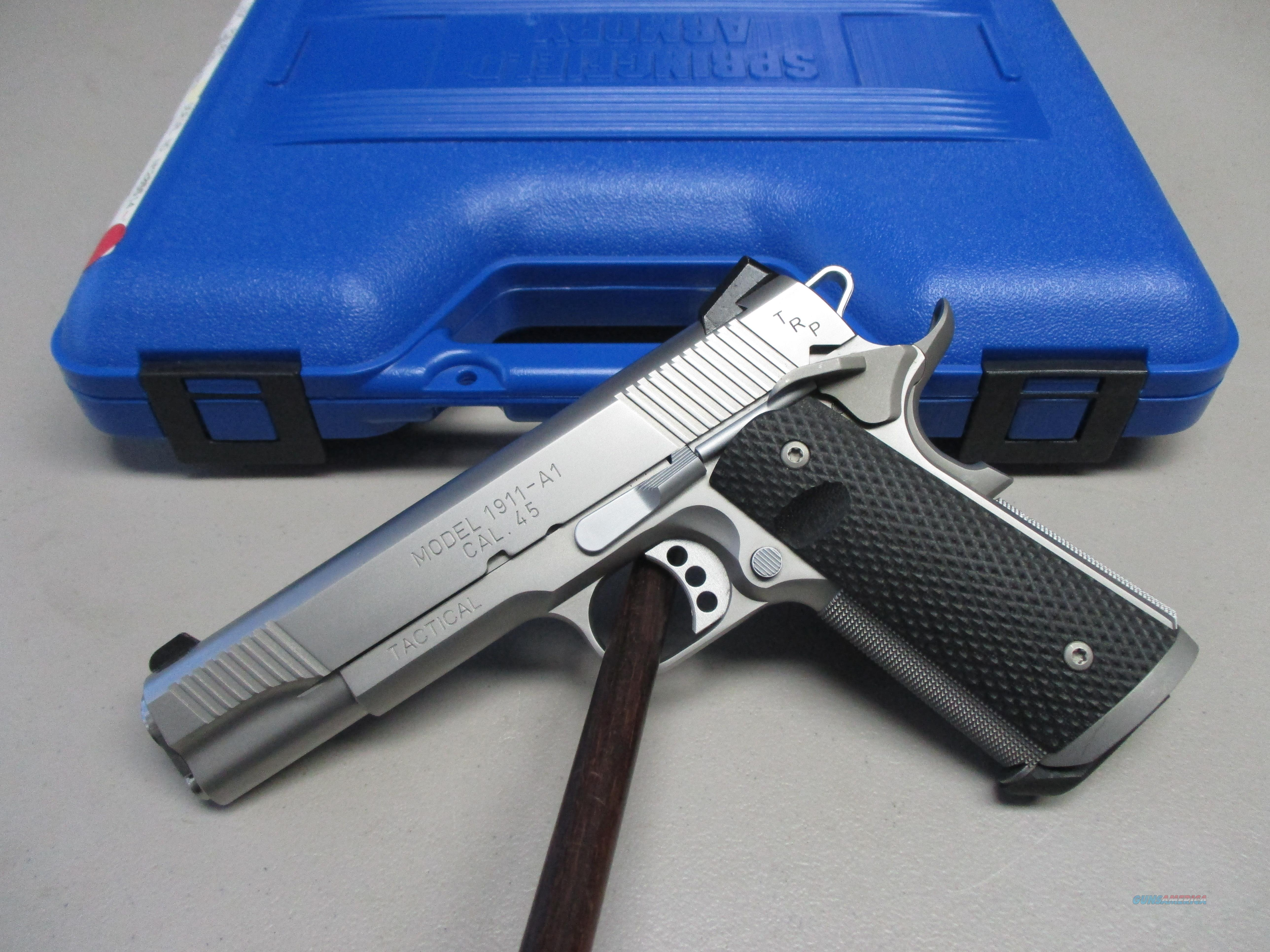 "Springfield 1911A1 TRP Tactical 45 ACP 5"" Stainless pistol  Guns > Pistols > Springfield Armory Pistols > 1911 Type"