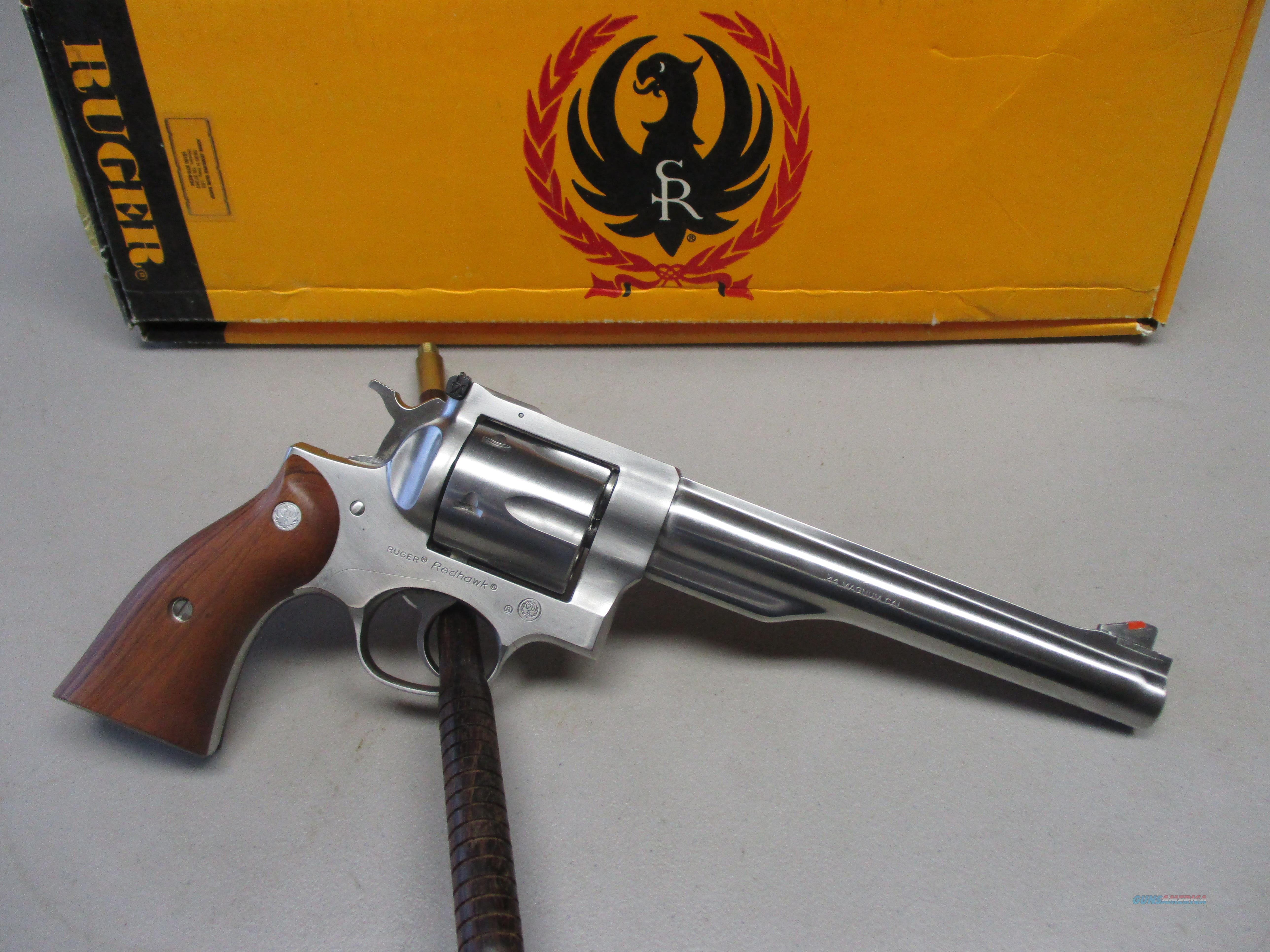 "Ruger Redhawk .44 Mag 7.5"" Stainless Sight Original Box  Guns > Pistols > Ruger Double Action Revolver > Redhawk Type"