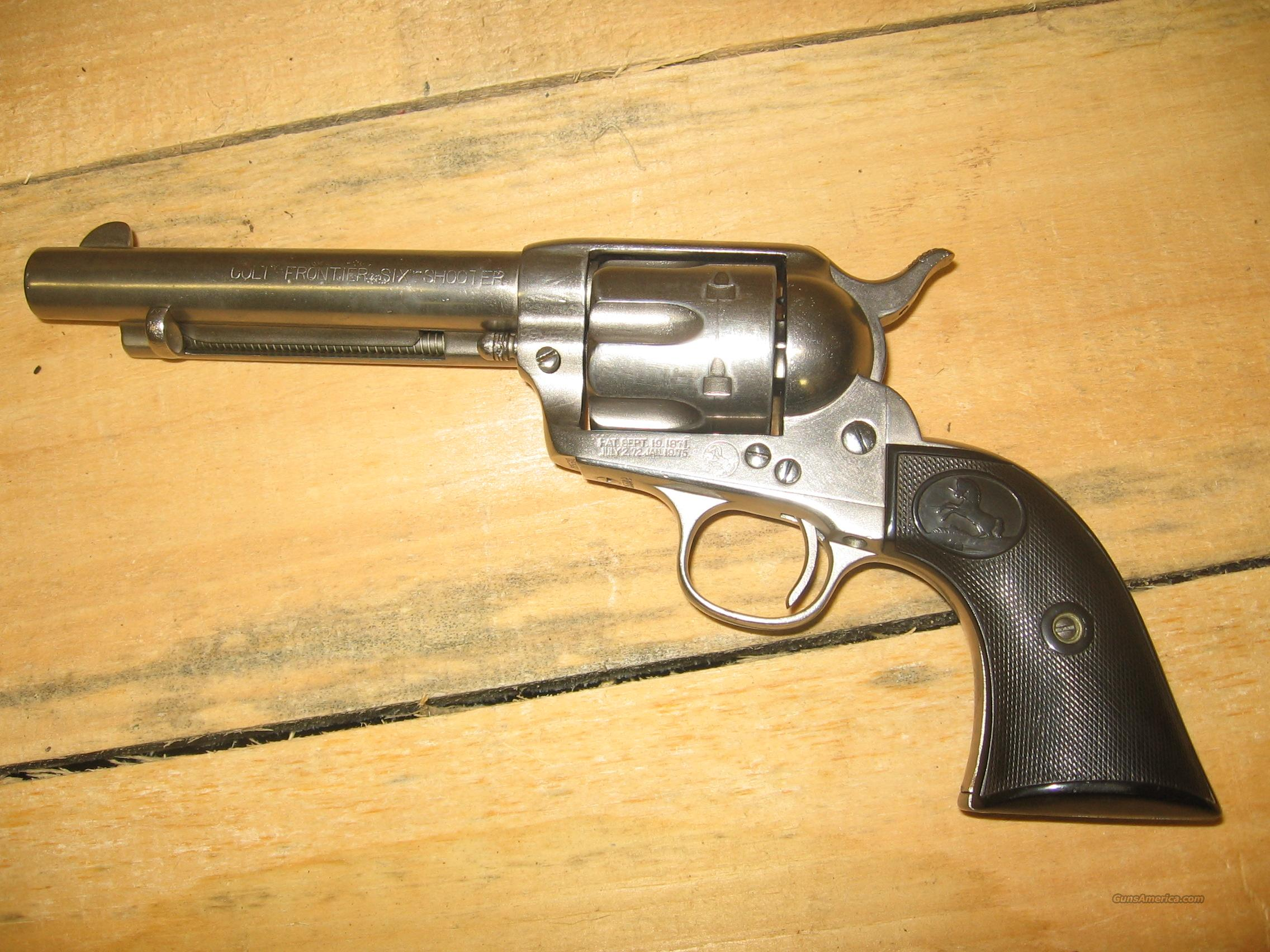 1873 Colt SAA Nickle 44-40  Guns > Pistols > Colt Single Action Revolvers - 1st Gen.