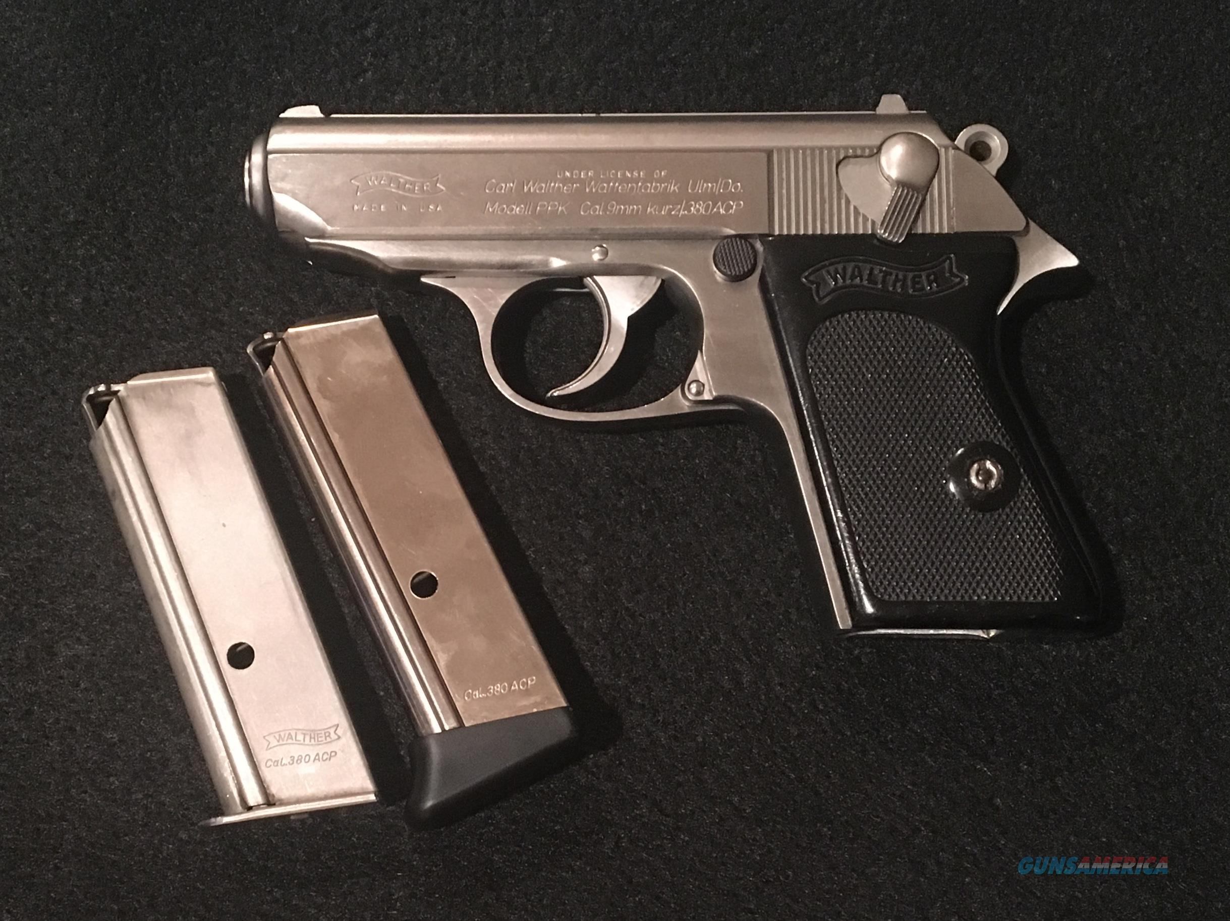 Interarms Walther PPK Stainless 380ACP  Guns > Pistols > Walther Pistols > Post WWII > PPK Series