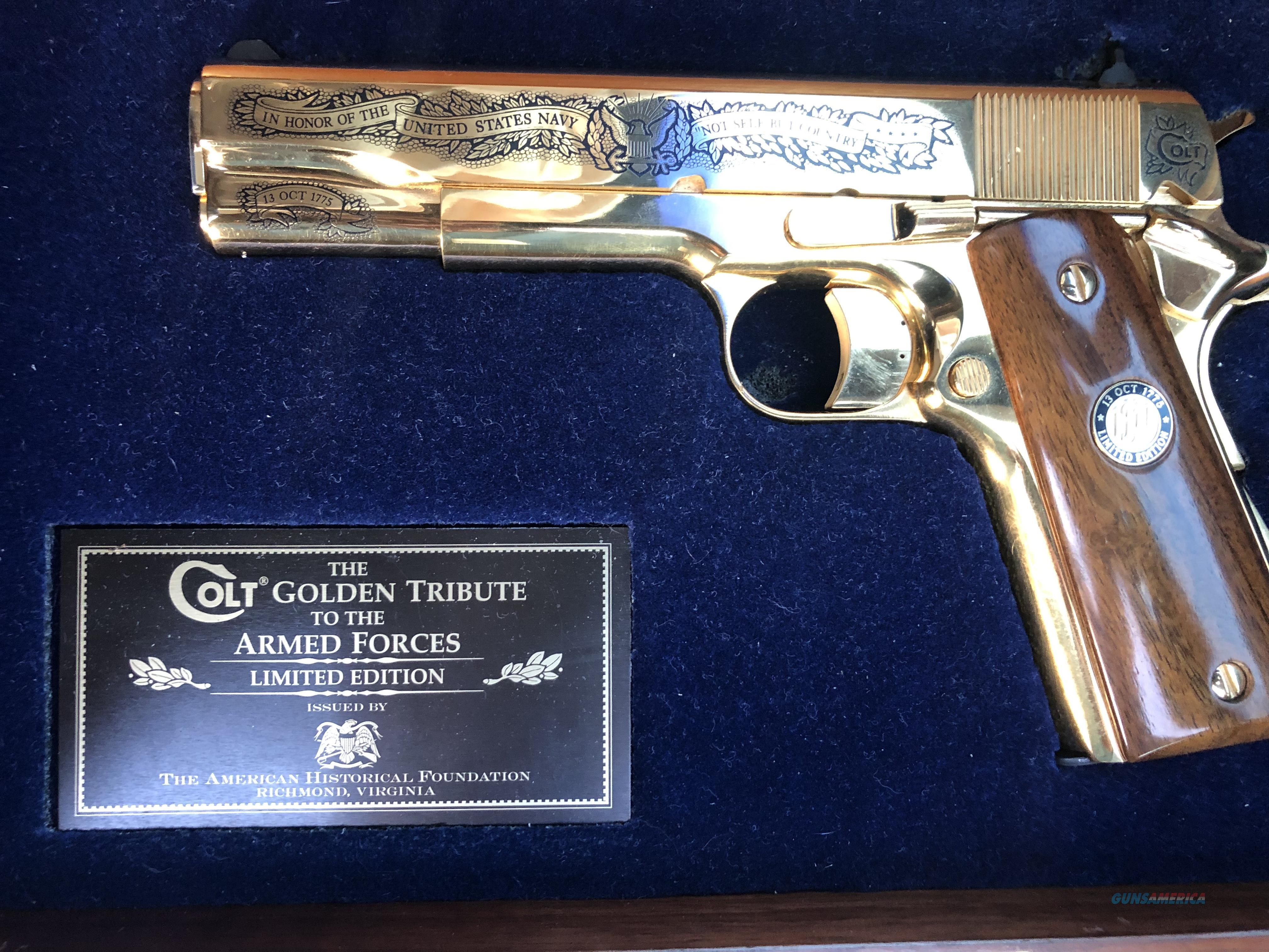 Military tribute, Navy 127 of 500  Guns > Pistols > Colt Commemorative Pistols