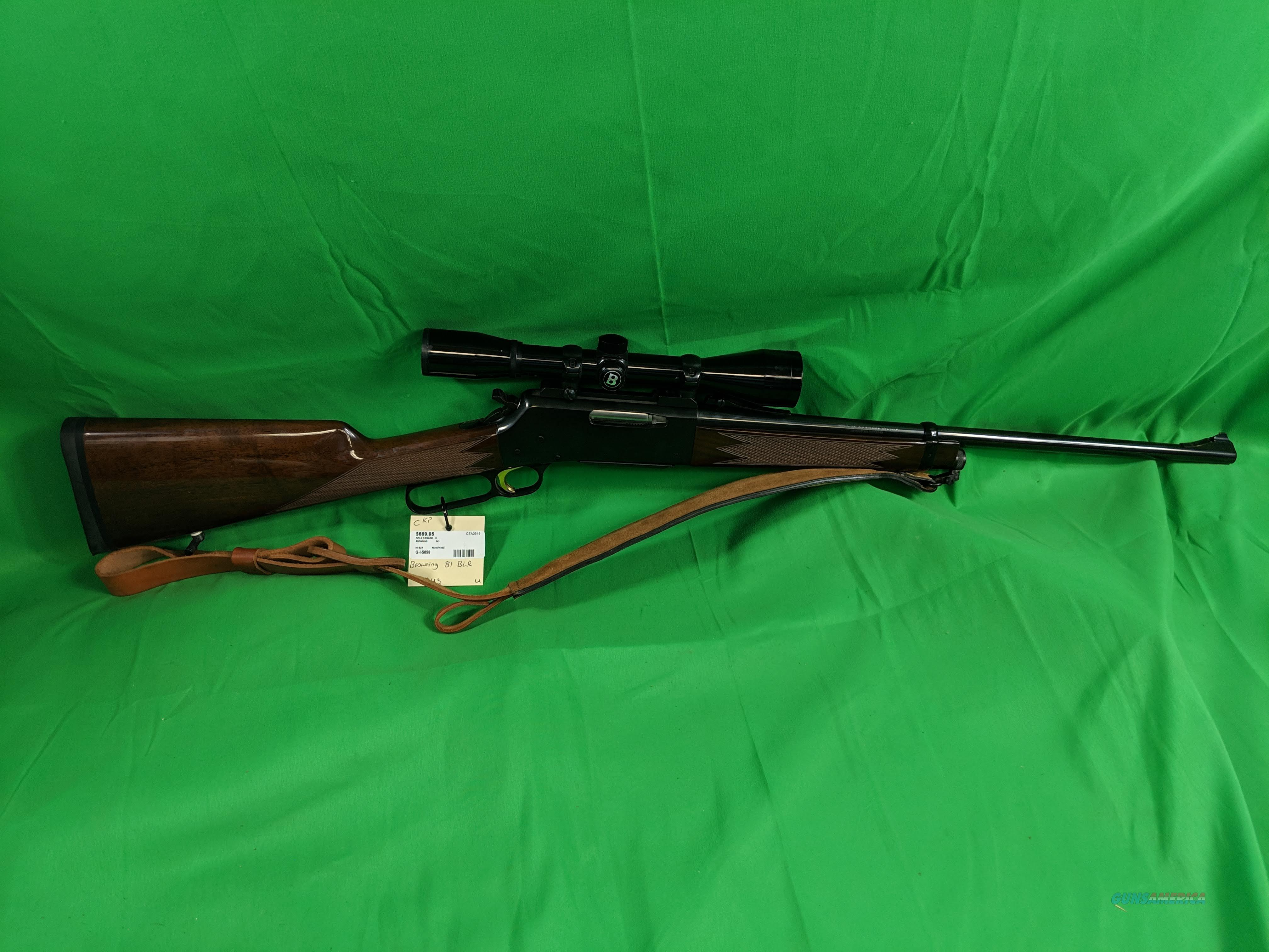 Browning BLR in .243 Win  Guns > Rifles > Browning Rifles > Lever Action