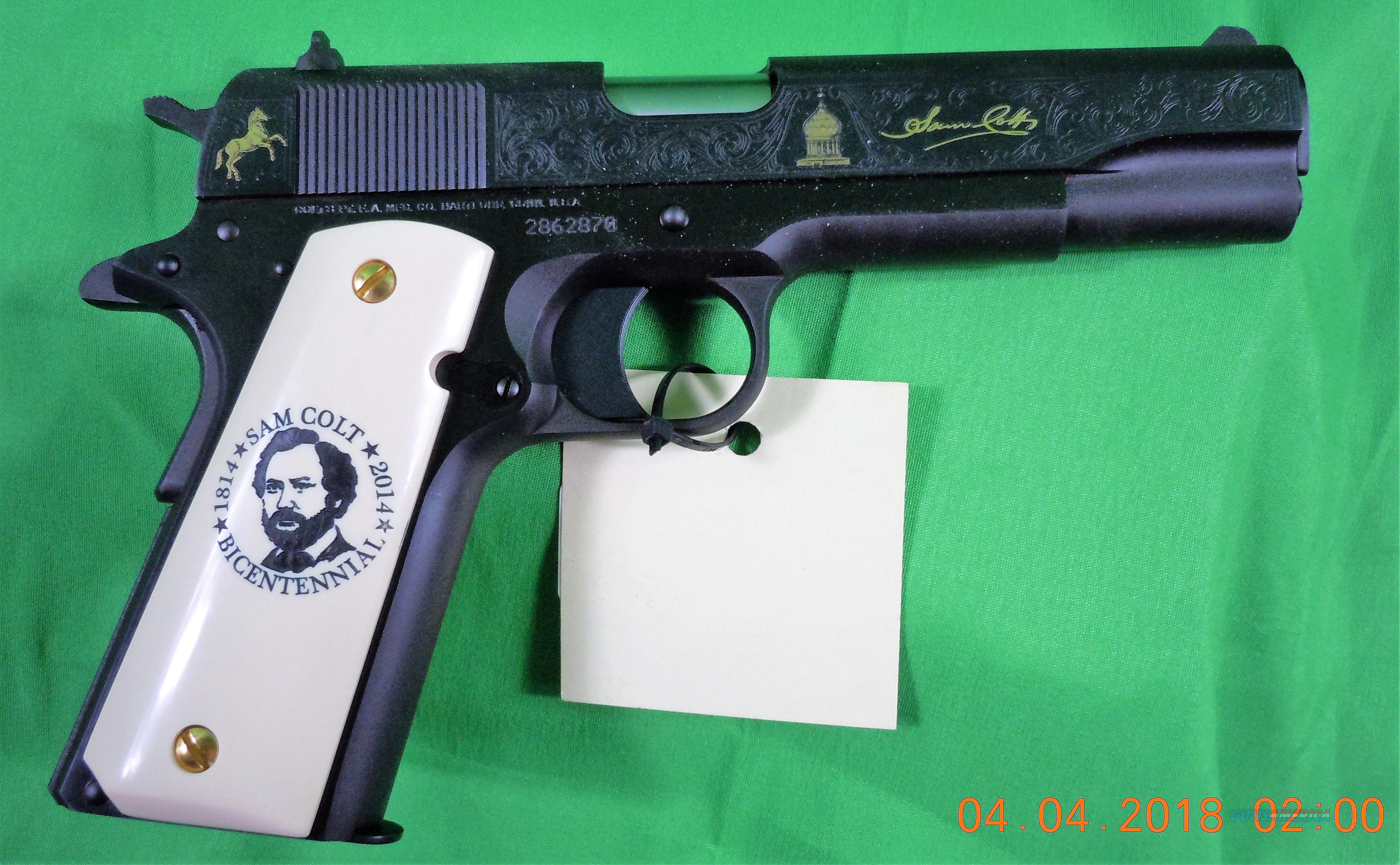 """Colt 1911 """"Sam Colt Bicentennial"""" Engraved .45 ACP Pistol  Guns > Pistols > Colt Automatic Pistols (1911 & Var)"""