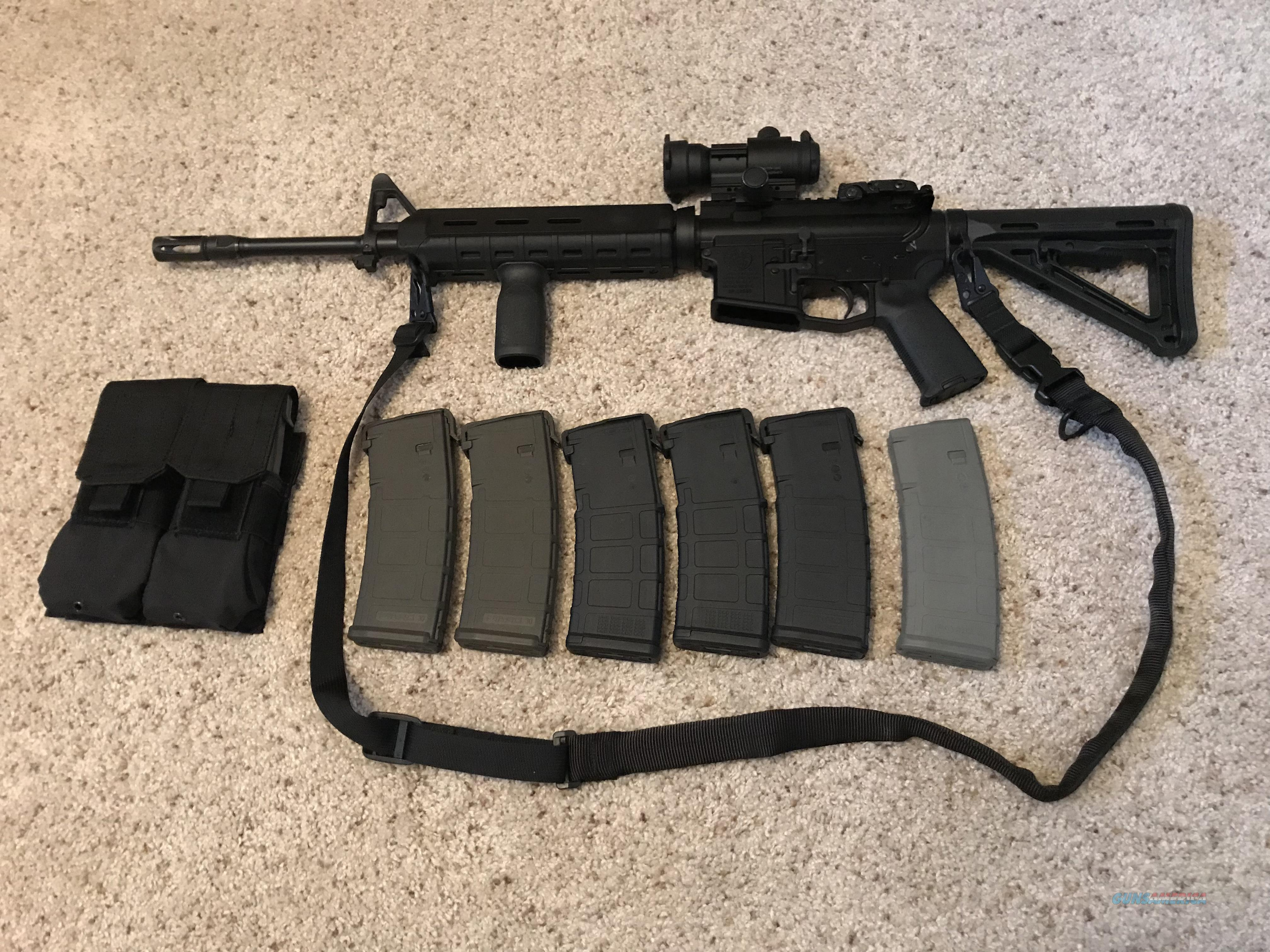 Smith & Wesson M&P MOE 5.56 with sling, Aimpoint PRO + 8 Pmags  Guns > Rifles > Smith & Wesson Rifles > M&P