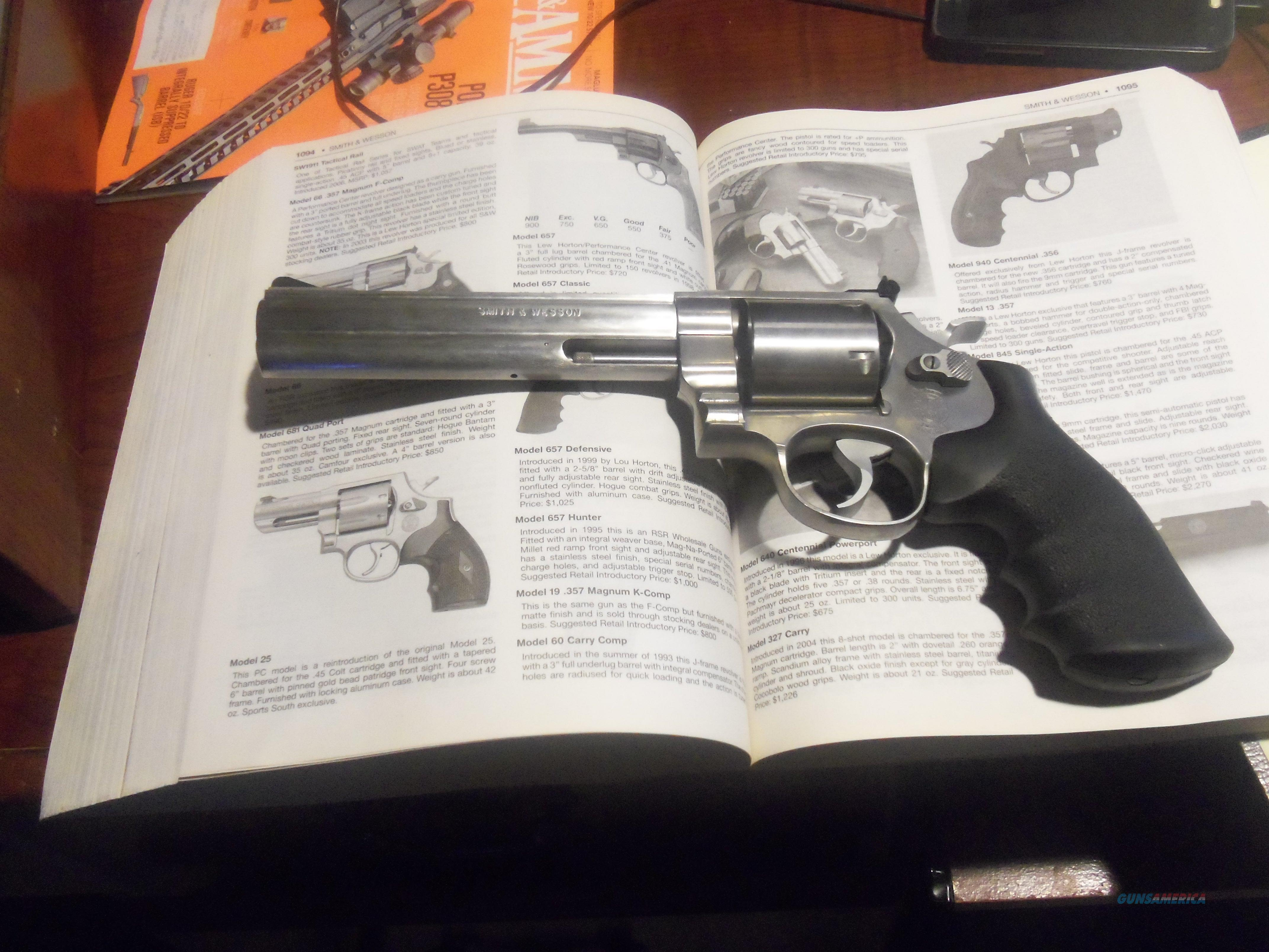 "Smith&Wesson 657 6"" 41 Magnum Stainless Revolver/Relisted Due To Non Paying Buyer  Guns > Pistols > Smith & Wesson Revolvers > Full Frame Revolver"