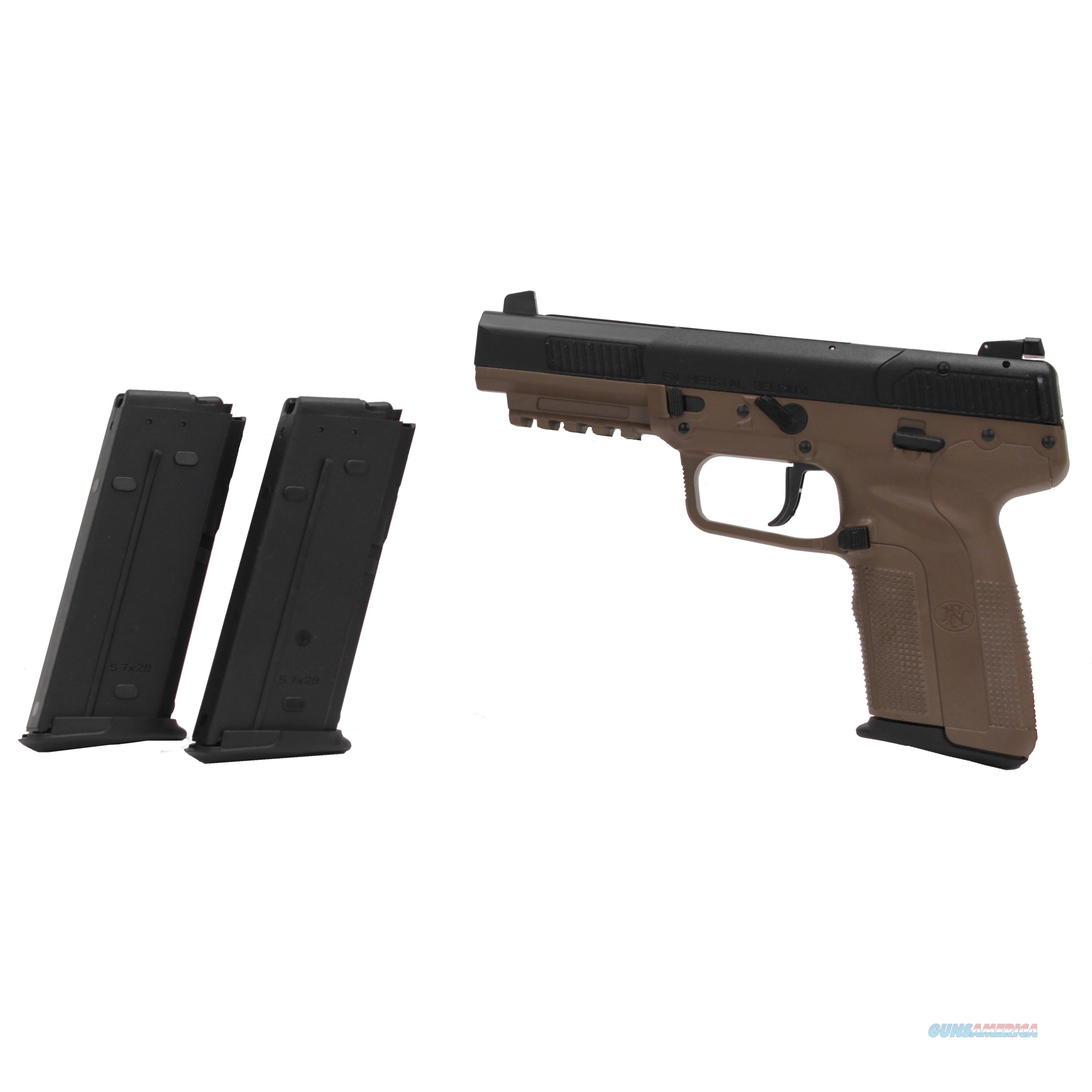 Fn Manufacturing Five-Seven 5.7X28mm Fde As 20Rd 3868929350  Guns > Pistols > F Misc Pistols