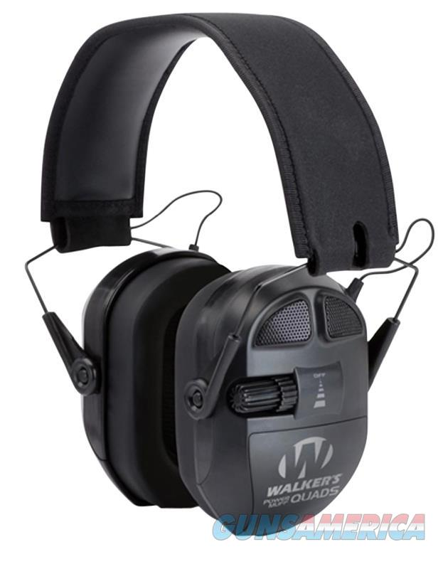 Walkers Game Ear Gwpxpmqb Ultimate Series Power Muff Quads  Black Earmuff 27 Db GWP-XPMQB  Non-Guns > Hunting Clothing and Equipment > Clothing > Camo Outerwear