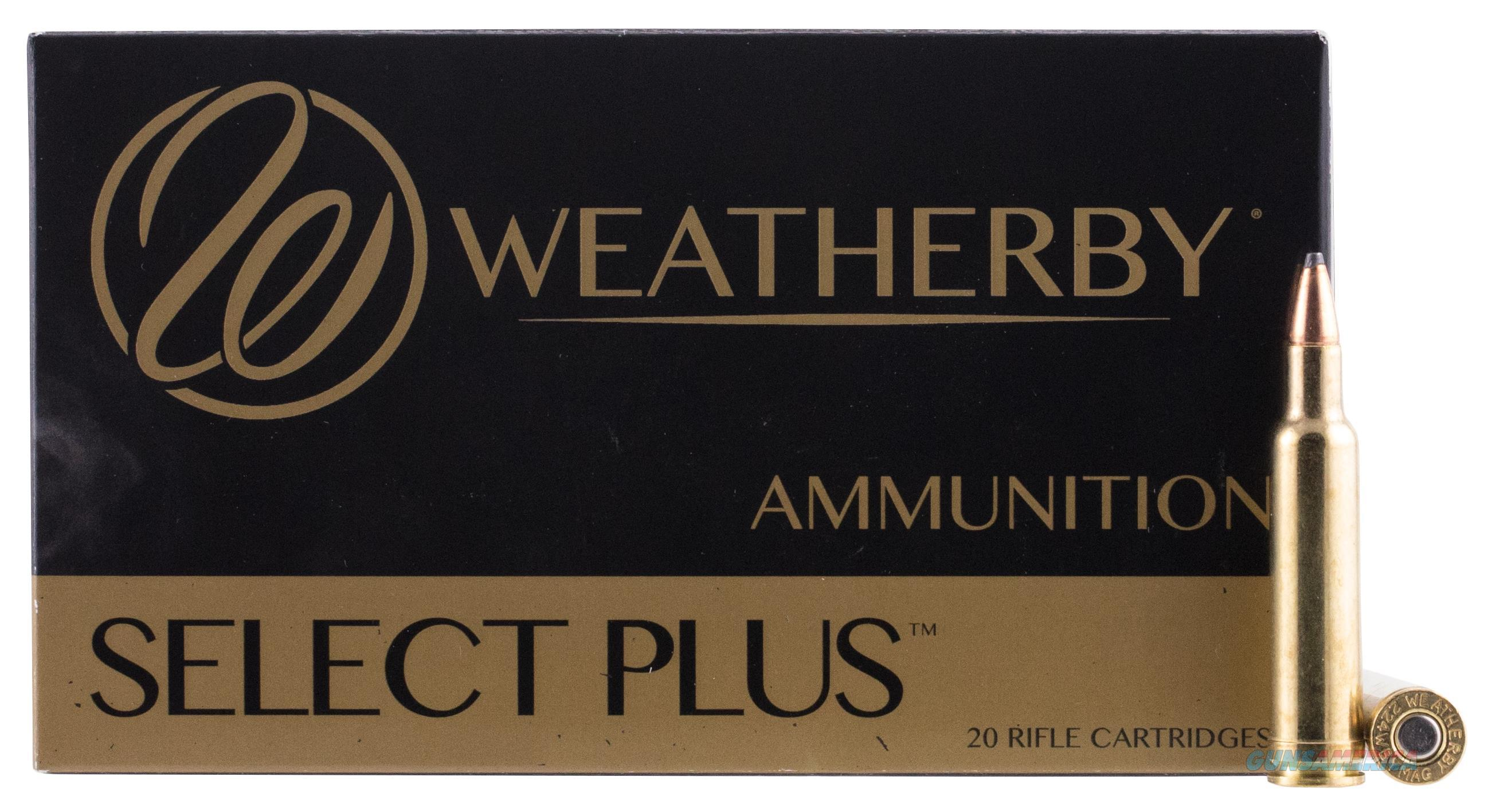 Weatherby H22455sp  224 Weatherby Magnum Spire Point 55 Gr 20Rds 747115010103  Non-Guns > Ammunition