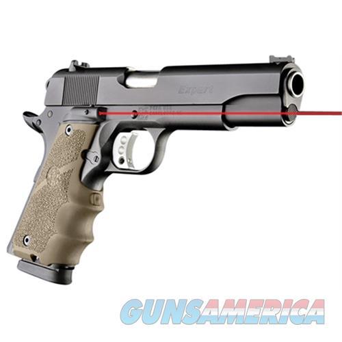 Hogue 45083 Laser Enhanced Grip 1911 Government Model Infrared Laser Flat Dark Earth 45083  Non-Guns > Gunstocks, Grips & Wood