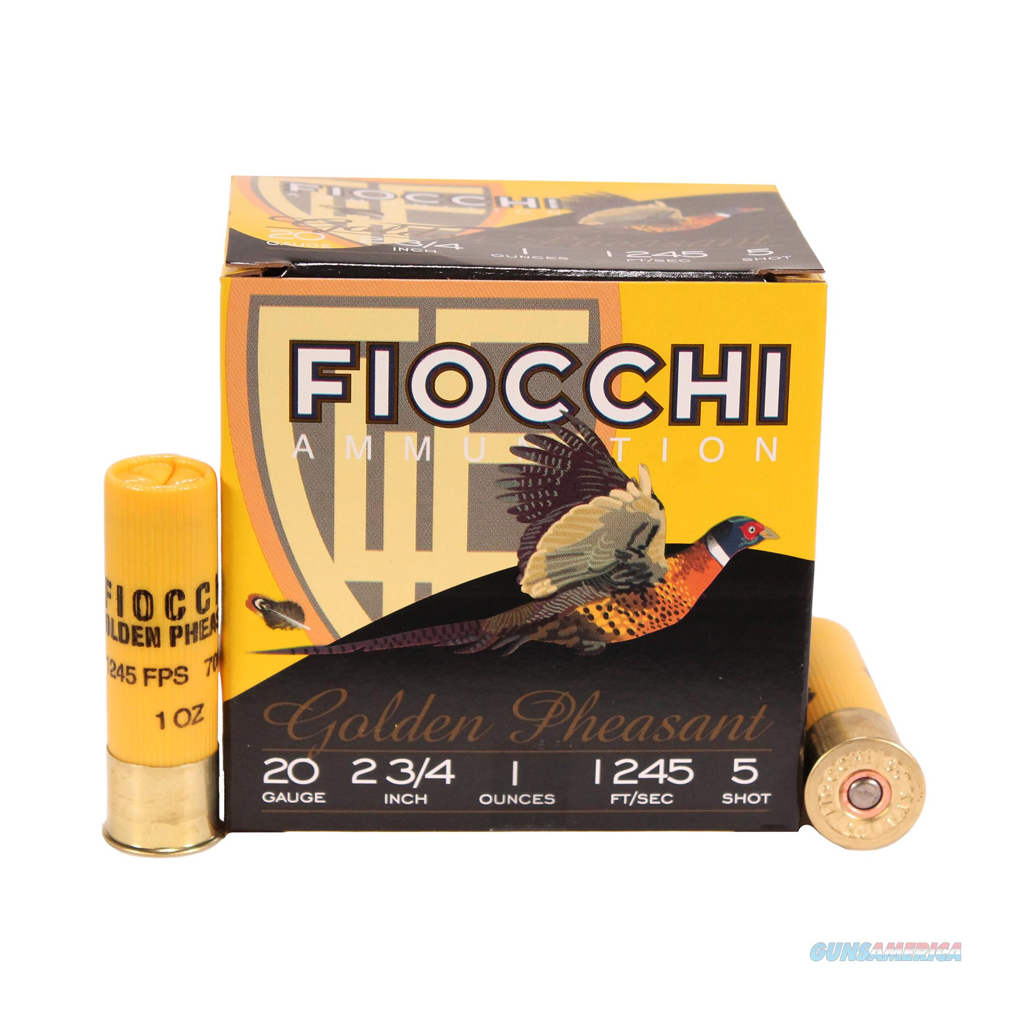 Fiocchi Golden Pheasant 20 Gauge 20GP5  Non-Guns > Ammunition