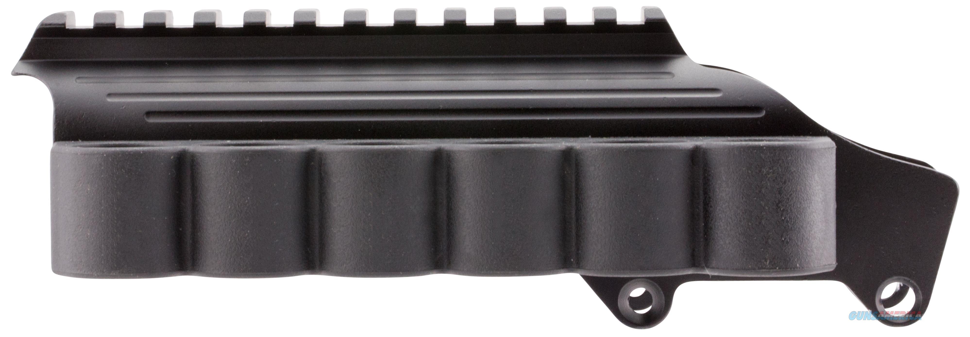 Tacstar 1081035 Shotgun Rail Mount With Sidesaddle 6 Rounds 12 Gauge Rem 870/1100/11-87 Black Aluminum/Rubber 1081035  Non-Guns > Gun Parts > Misc > Rifles