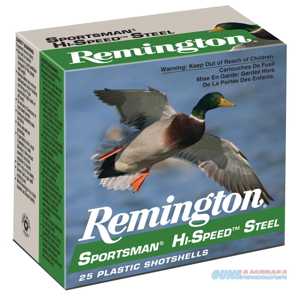 Remington Sportsman Hi-Speed Steel 20Ga 2.75'' 3/4Oz #7 25Bx SST207  Non-Guns > Ammunition
