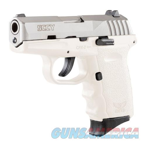 """Sccy Industries Cpx2ttwt Cpx-2 Double 9Mm 3.1"""" 10+1 White Polymer Grip/Frame Grip Stainless Steel CPX-2 TTWT  Guns > Pistols > S Misc Pistols"""