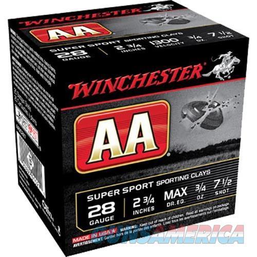 """Winchester Ammo Aasc287 Aa Target Loads 28 Gauge 2.75"""" 3/4 Oz 7.5 Shot 25 Bx/10 Cs AASC287  Non-Guns > Ammunition"""