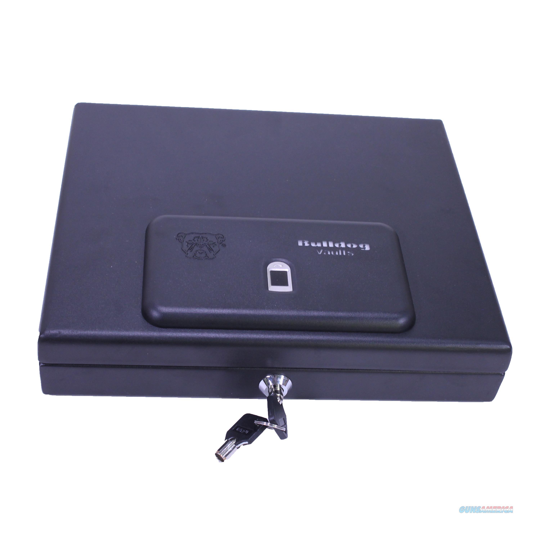 "Bulldog Cases Top Load Pistol Vault 11.5""X9.8""X2.5"", Biometric Fingerprint, Magnum, Black BD4055B  Non-Guns > Gun Safes"
