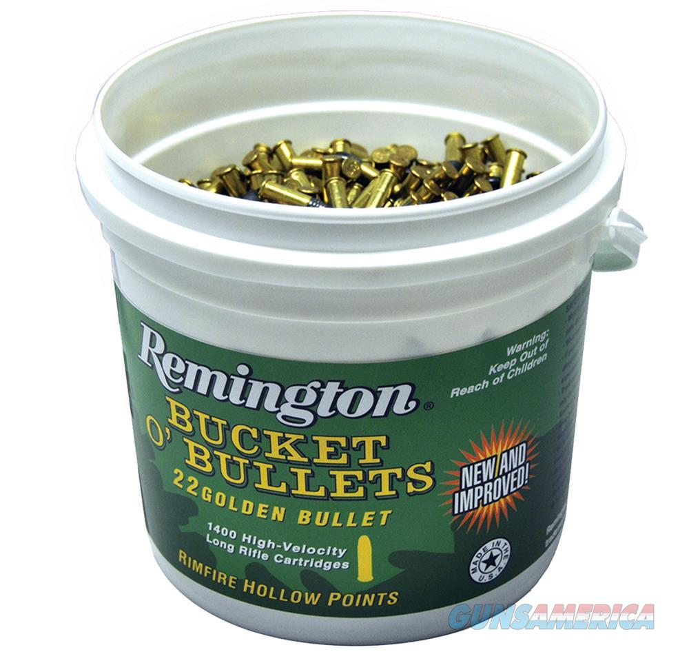 Remington Ammunition 1622B Golden Bullet High Velocity Bucket O''bullets 22 Long Rifle (Lr) 36 Gr Plated Hollow Point 1400 Bucket/ 4 C 1622B  Non-Guns > Ammunition