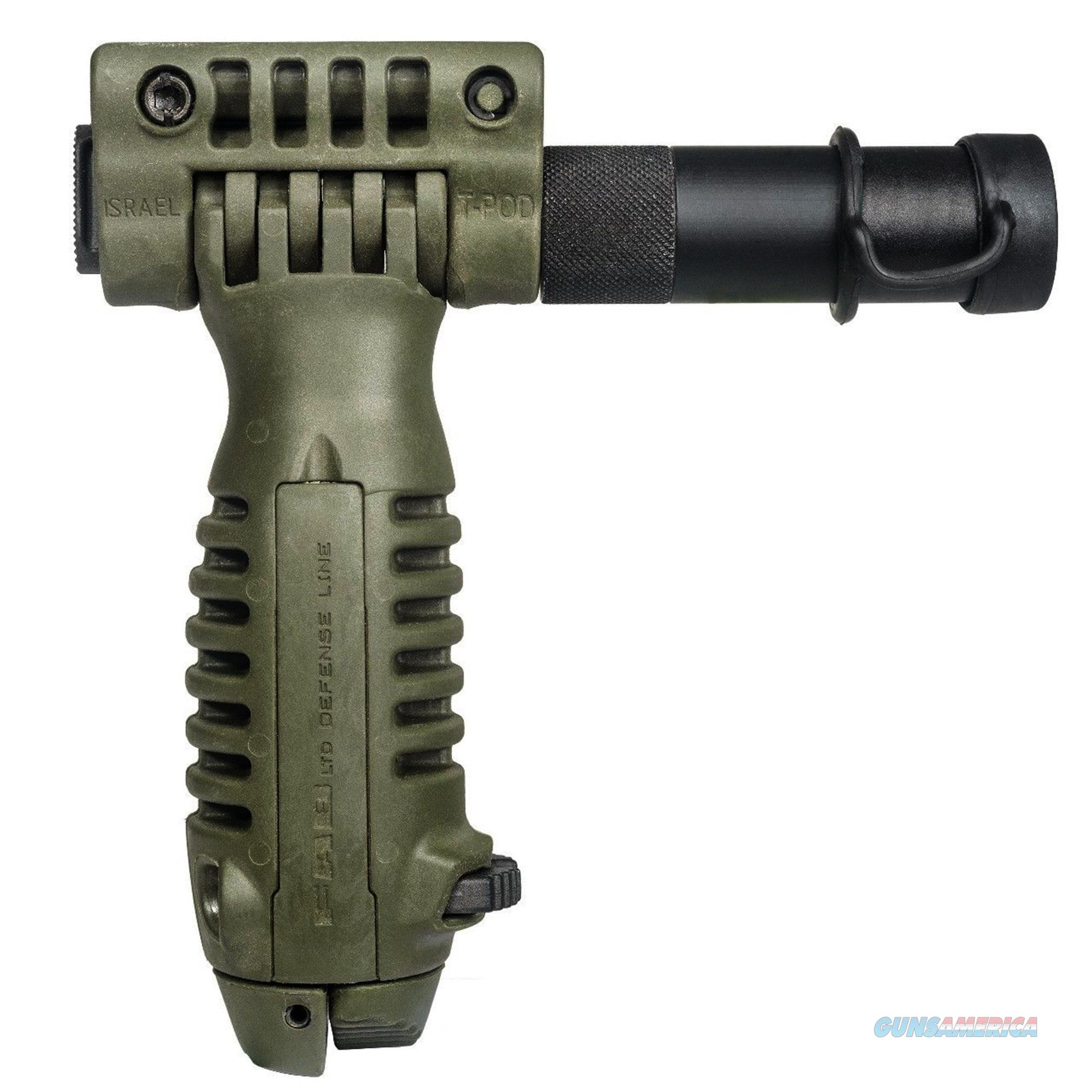 Mako Group Tactical Foregrip With Integrated Adjustable Bipod And Incorporated Flashlight T-PodSL-OD  Non-Guns > Gunstocks, Grips & Wood