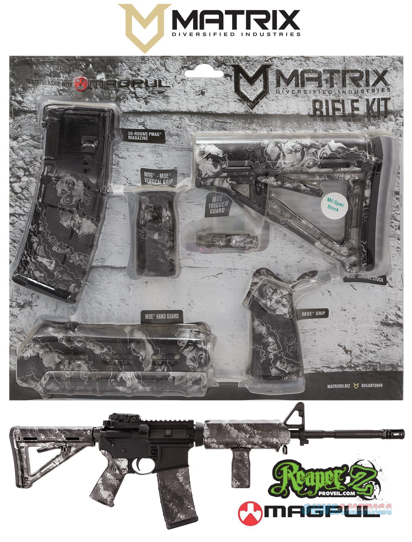 Mdi Magmil19-Zs Reaper Z Silver Magpul Moe Kit Poly Ar-15 MAGMIL19ZS  Non-Guns > Gunstocks, Grips & Wood