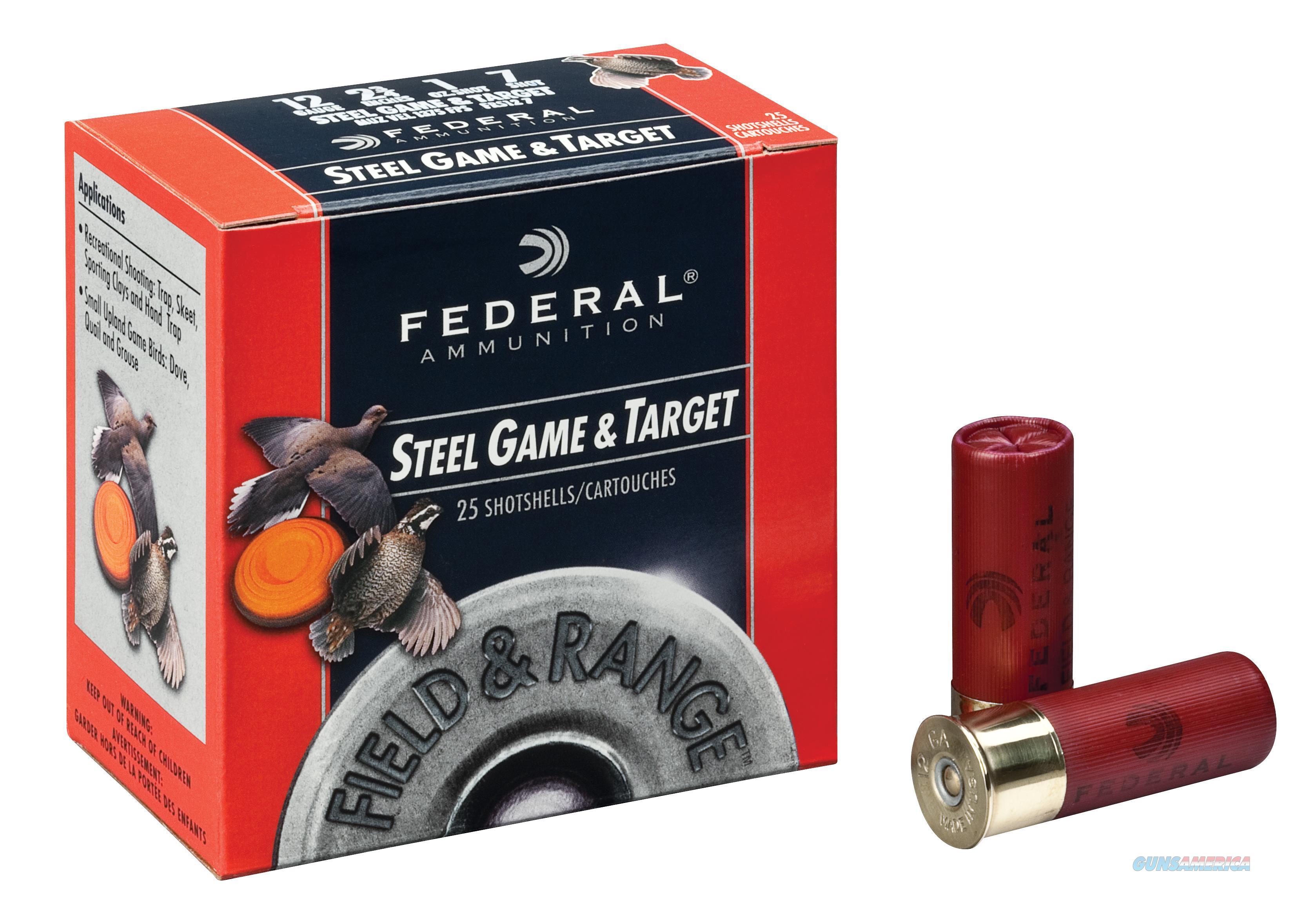 """Federal Frs4137 Standard Field & Range Steel 410 Ga 3"""" 3/8Oz 7 Shot 25Bx/10Cs FRS4137  Non-Guns > Ammunition"""