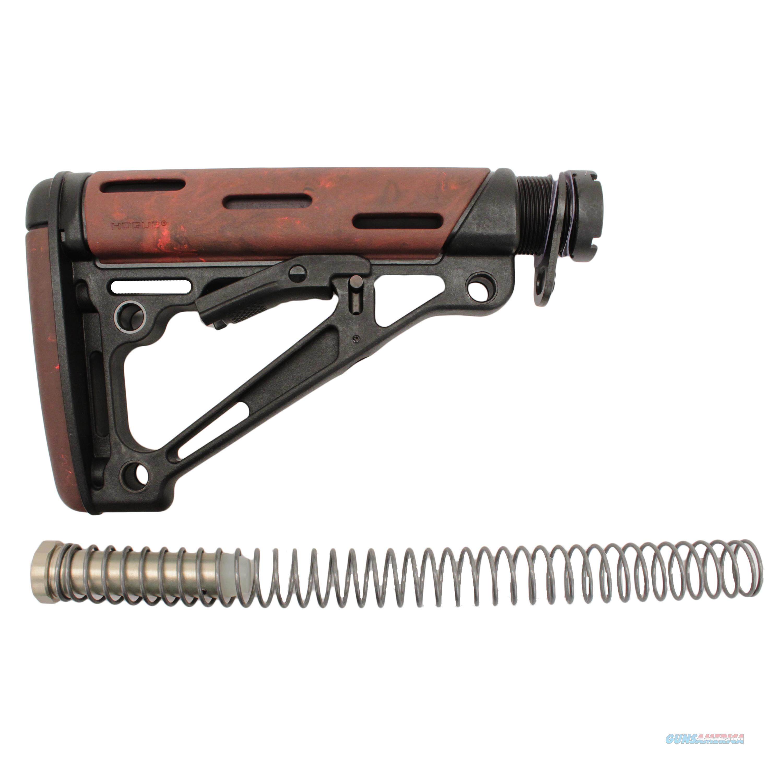 Hogue Ar15 Omc Buttstock Assembly Mil-Spec Red Lava 15445  Non-Guns > Gunstocks, Grips & Wood