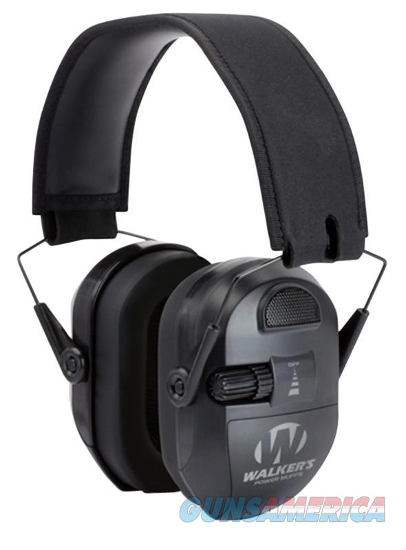 Walker's Muff Game Ear Ultimate Power 9X Enhancement Black GWP-XPMB  Non-Guns > Hunting Clothing and Equipment > Clothing > Camo Outerwear
