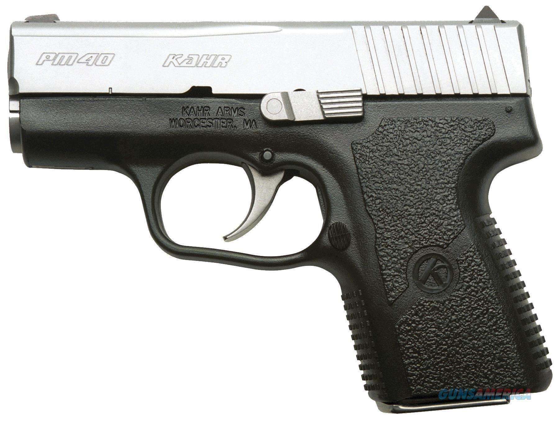 "Kahr Arms Pm4043n Pm40 Standard 40S&W 3"" 5+1/6+1 Ns Blk Polymer Grip Mss Slide PM4043N  Guns > Pistols > K Misc Pistols"