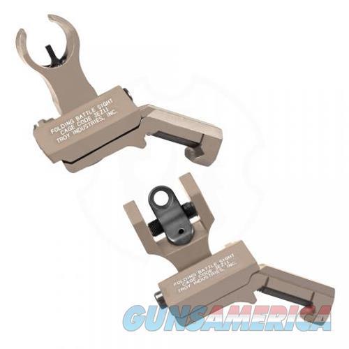 Troy Industries Inc 45 Degree Offset Hk/Round Rear Sight Set SSIG-45S-HRFT-00  Non-Guns > Iron/Metal/Peep Sights