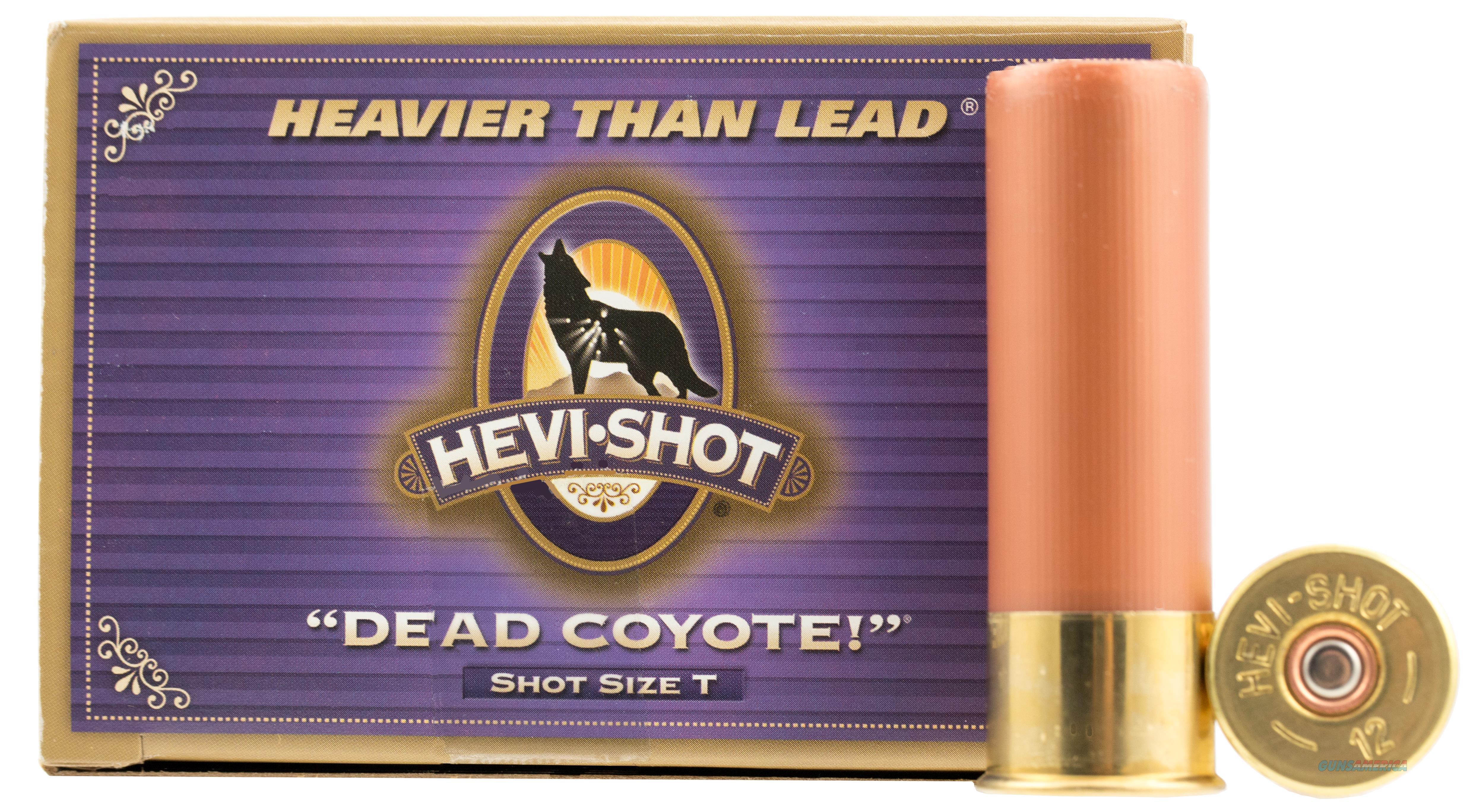 """Hevishot 43035 Dead Coyote 12 Ga 3.5"""" 1-5/8Oz T Shot 10Box/10Case 43035  Non-Guns > Ammunition"""