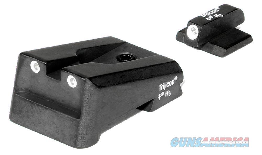 Trijicon 600161 Ca22 Bright And Tough Night Sights Colt 1911 Government Enhanced Tritium Green W/White Outline Black 600161  Non-Guns > Iron/Metal/Peep Sights