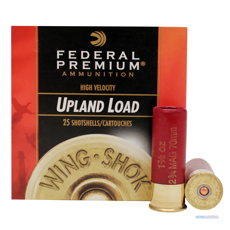 Federal Wing Shok Hv 12Ga 2.75'' 1-3/8Oz #4 25/Bx 029465021641  Non-Guns > Ammunition