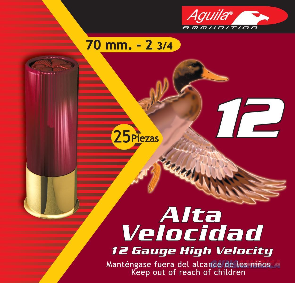 """Aguila 1Chb1204 Field High Velocity  12 Gauge 2.75"""" Lead 1-1/4 Oz 4 Shot 25 Bx/ 10 Cs 1CHB1204  Non-Guns > Ammunition"""