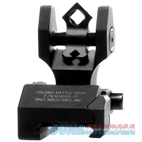 Troy Doarfbt00 Battlesight Folding Rear Doa Picatinny Rail Aluminum Black SSIG-DOA-RFBT-00  Non-Guns > Iron/Metal/Peep Sights