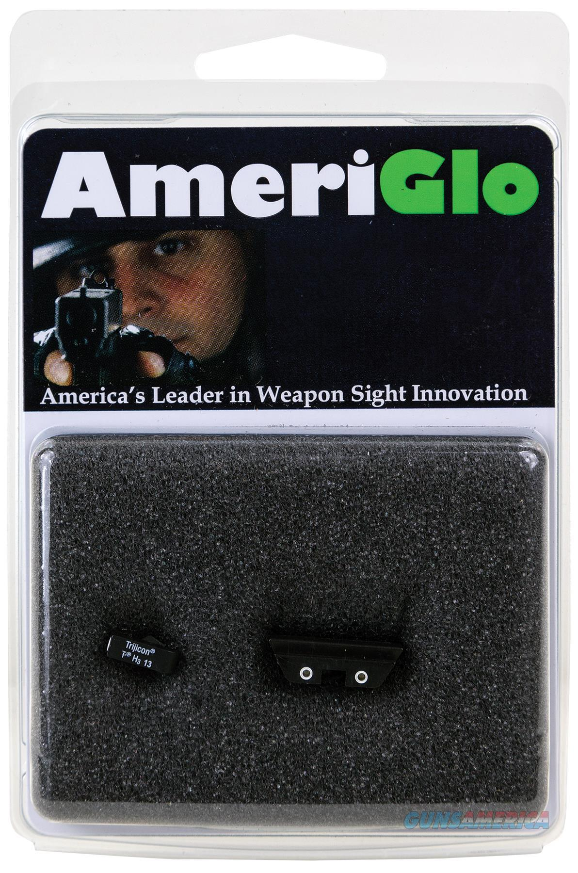 Ameriglo Gl115 Classic 3 Dot Night Sight Glock 17/19/22/23/24/26/27/33/34/35/37/38/39 Green Tritium W/White Outline Yellow W/ White Outline Black GL-115  Non-Guns > Iron/Metal/Peep Sights
