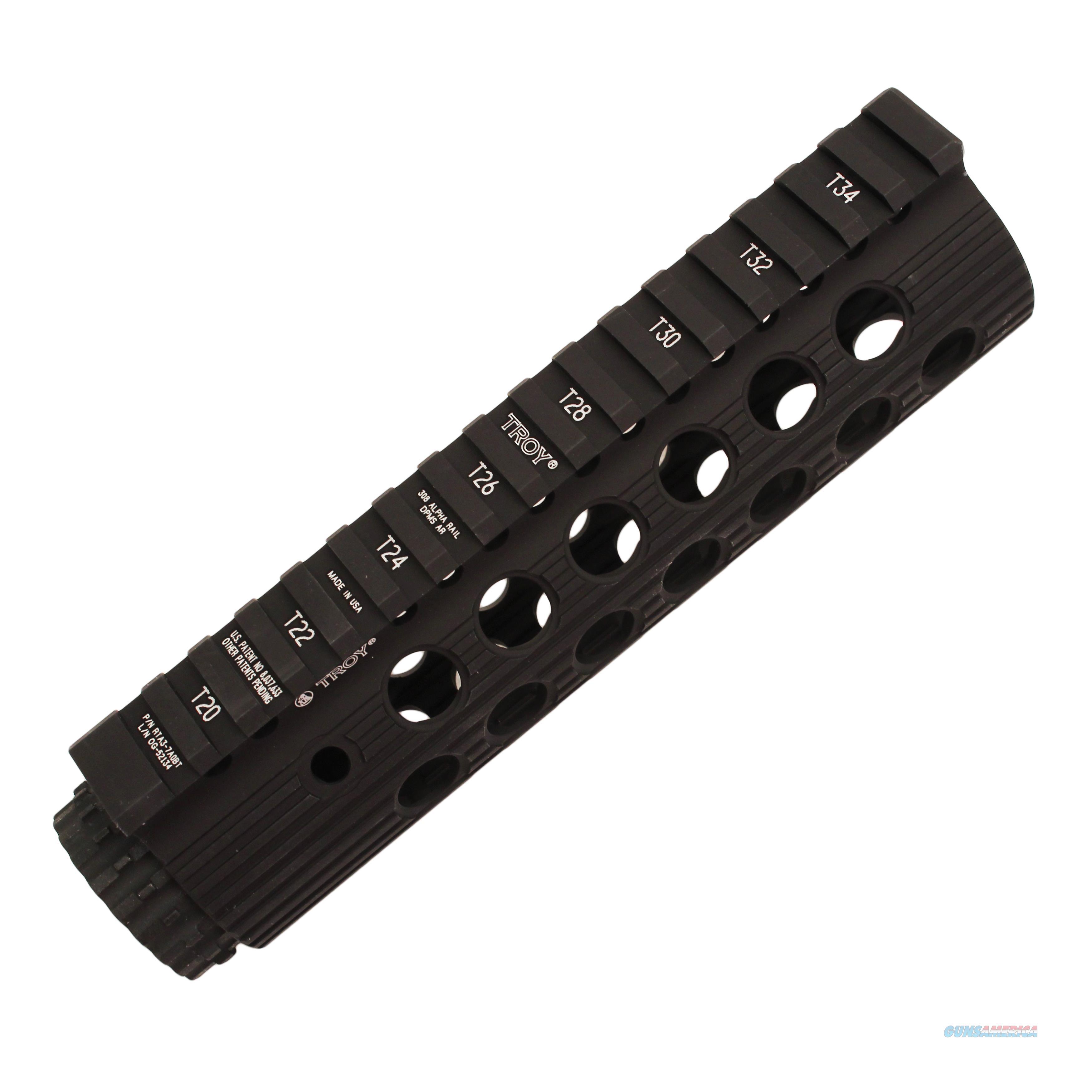 Troy Industries Inc Alpha 308 Rail, Black STRXAL37ABT01  Non-Guns > Scopes/Mounts/Rings & Optics > Mounts > Tactical Rail Components