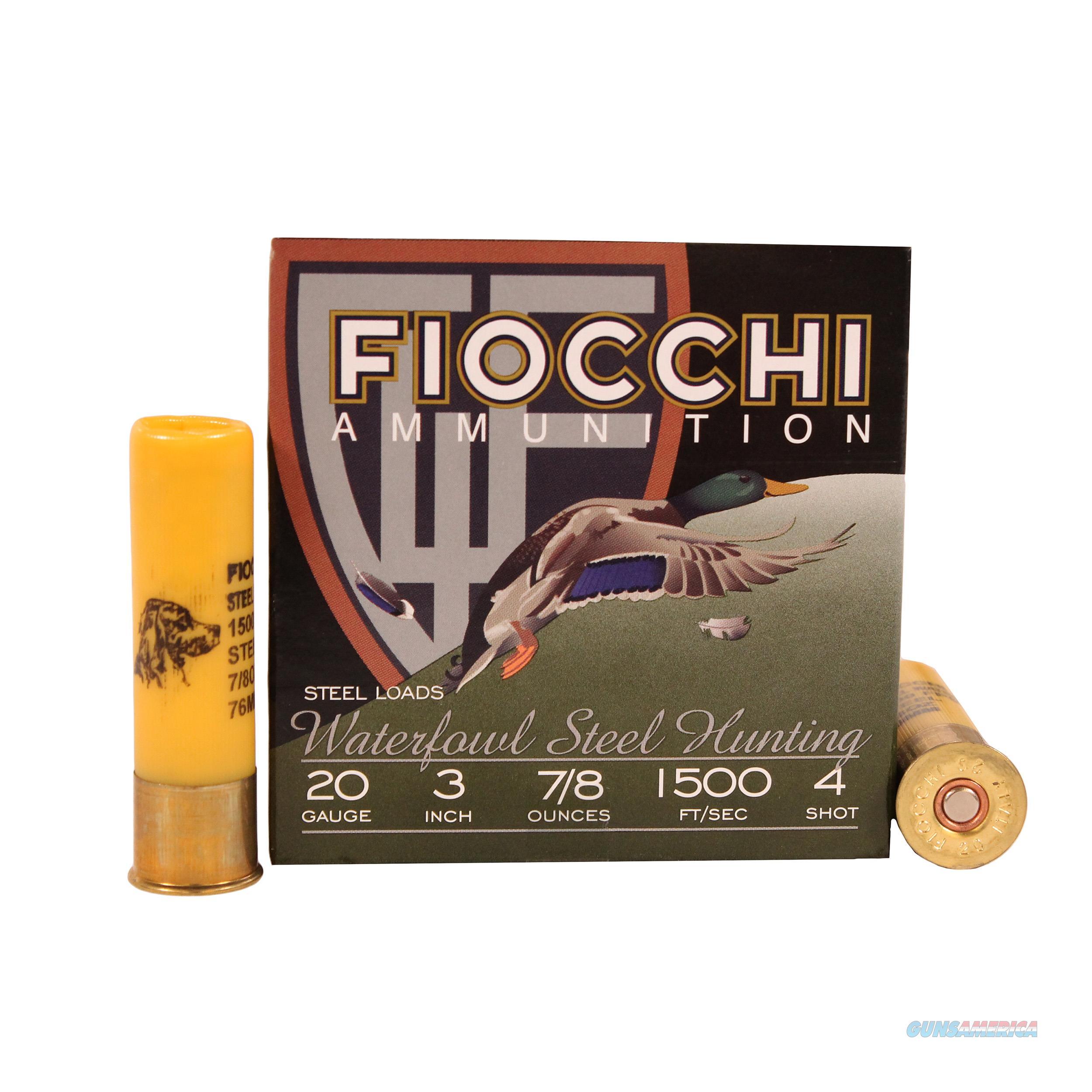 Fiocchi Speed Steel 20 Gauge 203ST4  Non-Guns > Ammunition