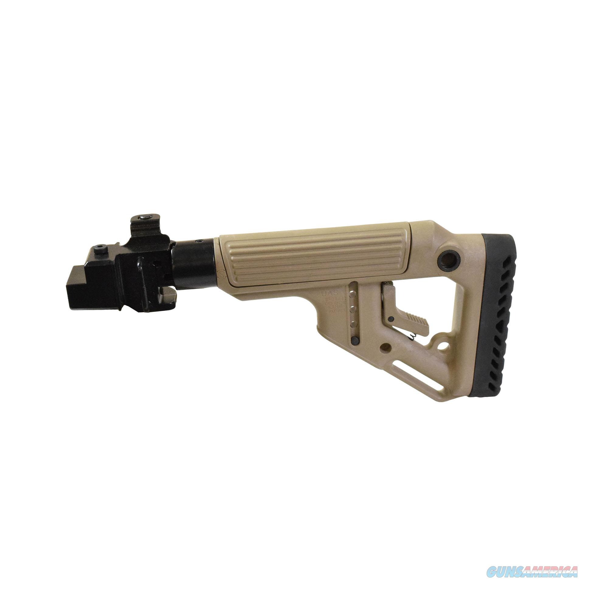 Mako Group Tactical Folding Buttstock With Cheek Riser UAS-AK-FDE  Non-Guns > Gunstocks, Grips & Wood