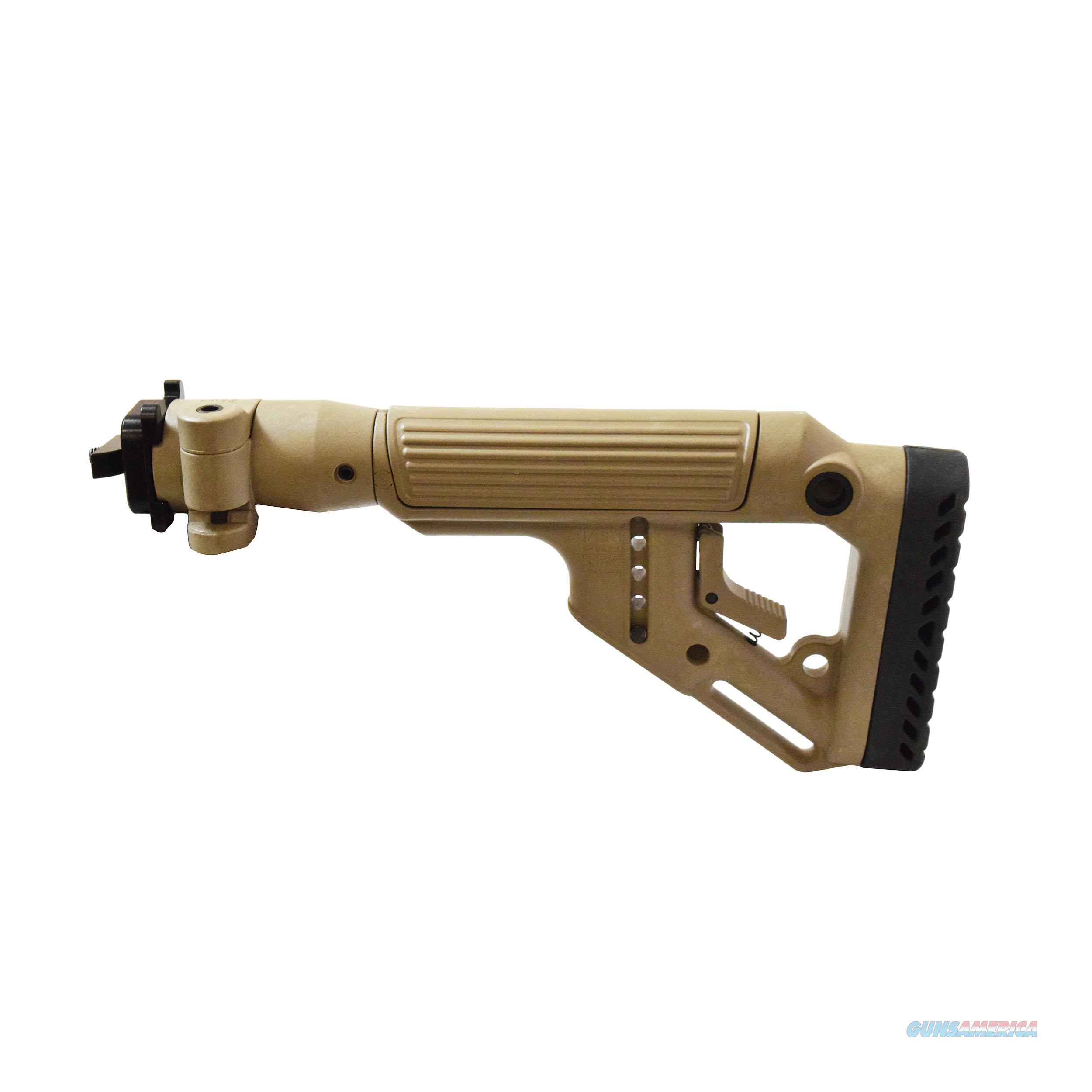 Mako Group Tactical Folding Buttstock With Cheek Riser UAS-AKMILP-FDE  Non-Guns > Gunstocks, Grips & Wood