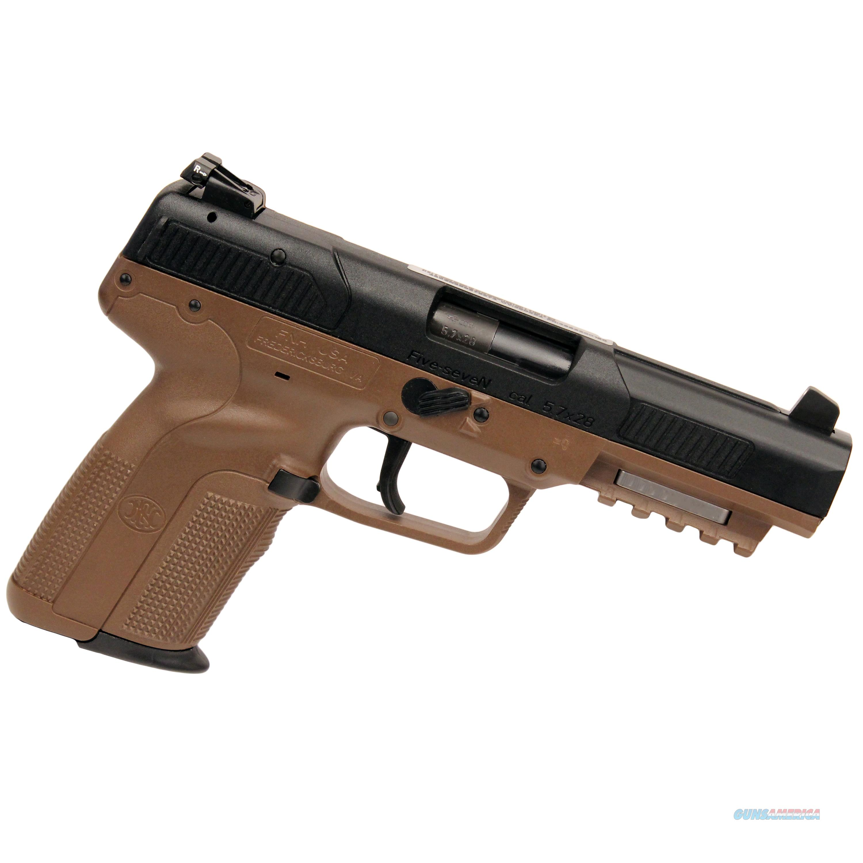 Fn Manufacturing Five-Seven 5.7X28mm Fde As 10Rd 3868929352  Guns > Pistols > F Misc Pistols
