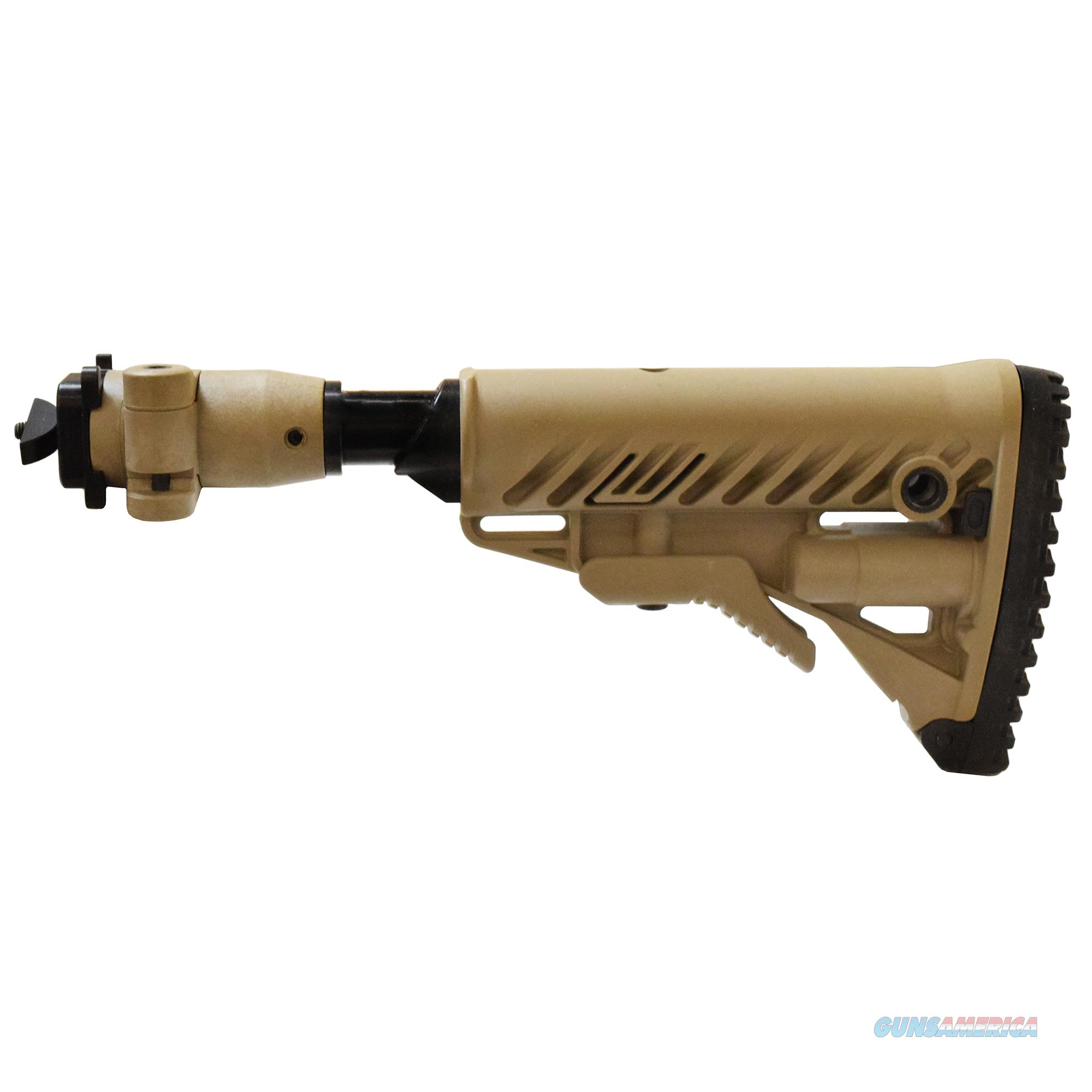 Mako Group Folding Collapsible Stock For Milled Ak Rifles M4-AKMILP SB-FDE  Non-Guns > Gunstocks, Grips & Wood