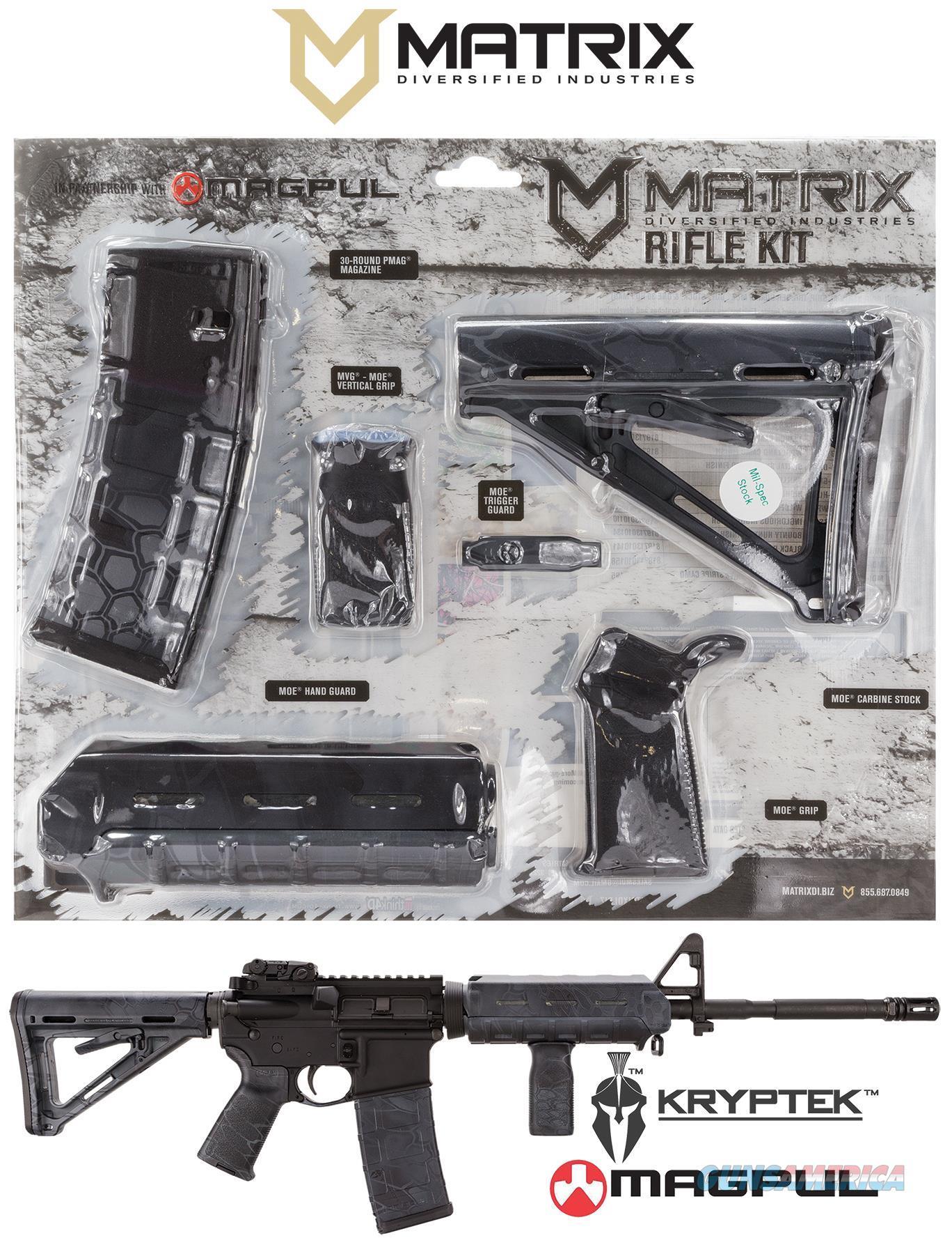 Mdi Magmil37-Ty Kryptek Typhon Magpul Moe Kit Poly Ar-15 MAGMIL37TY  Non-Guns > Gunstocks, Grips & Wood