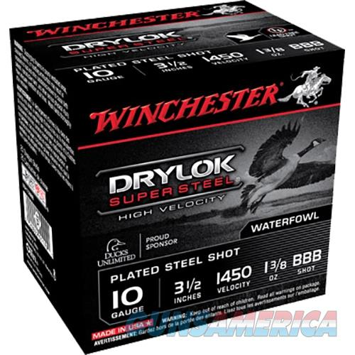 Winchester Drylok Super Steel Hv 10Ga 3.5'' 1-3/8Oz #Bbb 25/Bx SSH10BBB  Non-Guns > Ammunition