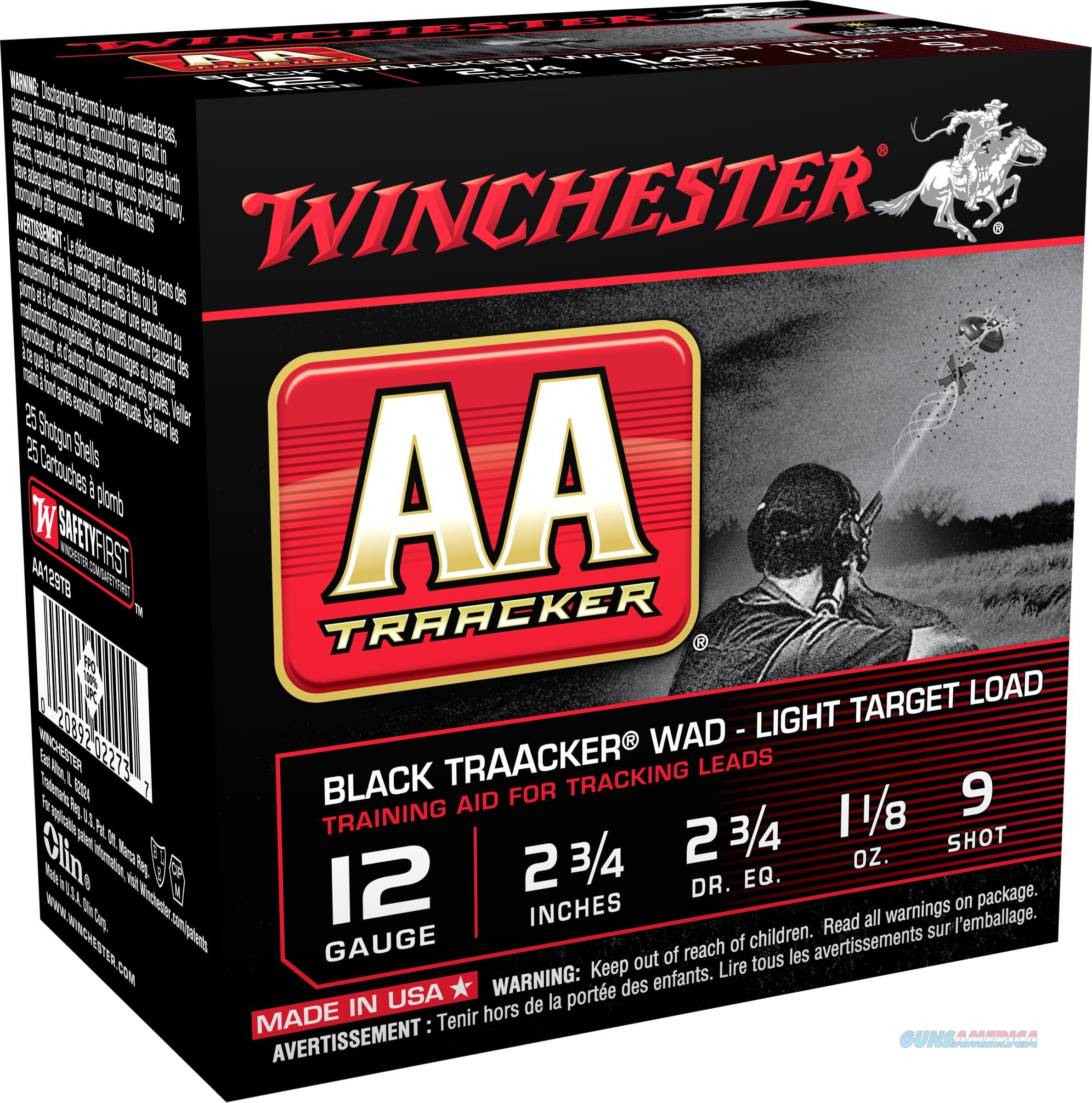 "Winchester Ammo Aa129tb Aa Traacker 12 Gauge Clear Sky Training Light 12 Gauge 2.75"" 1-1/8 Oz 9 Shot 25 Bx/ 10 Cs AA129TB  Non-Guns > Ammunition"
